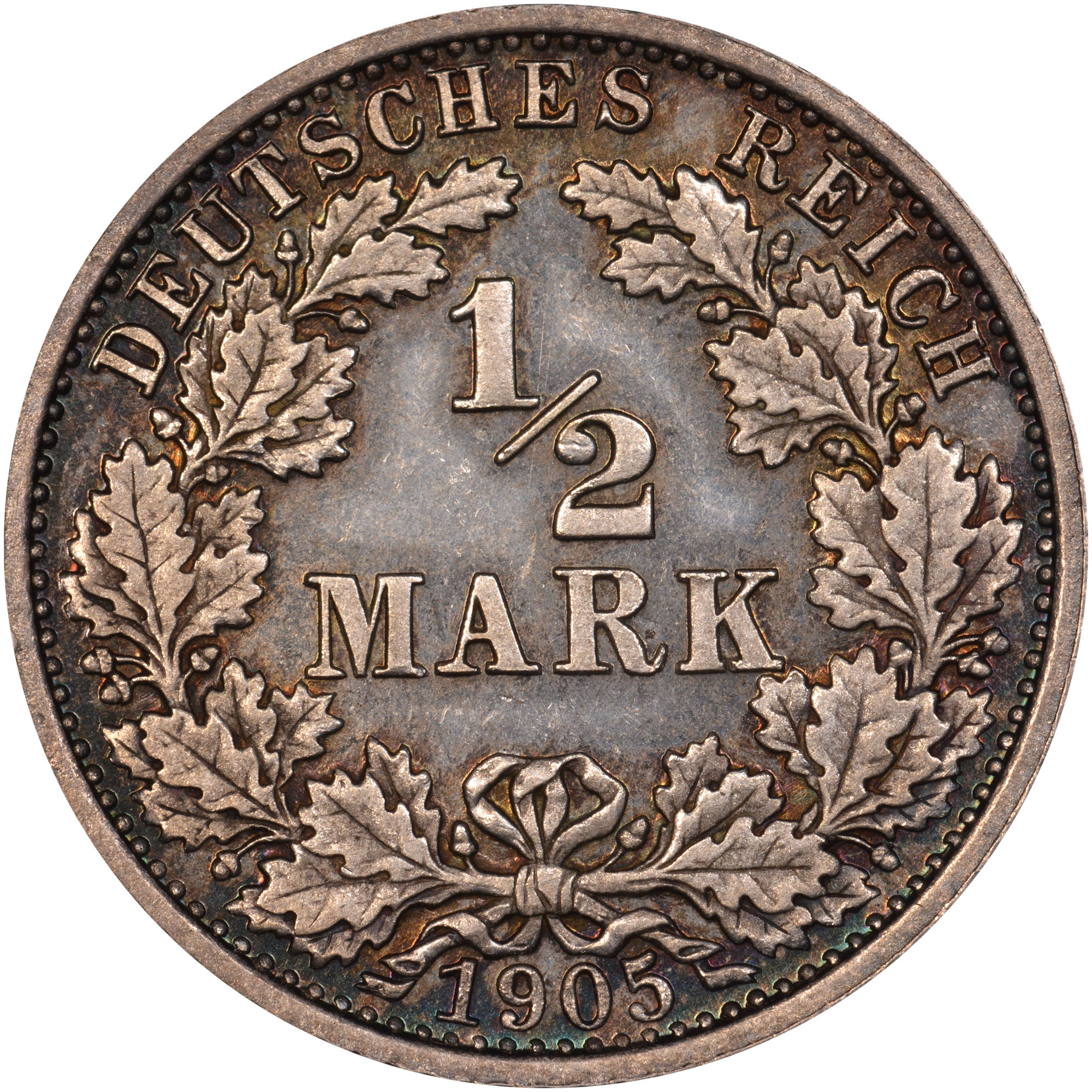 1808/7-1919/1619 Germany - Empire 1/2 Mark obverse