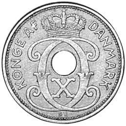 1927-1940 Denmark 2 Ore obverse