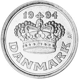 Denmark 50 Øre obverse