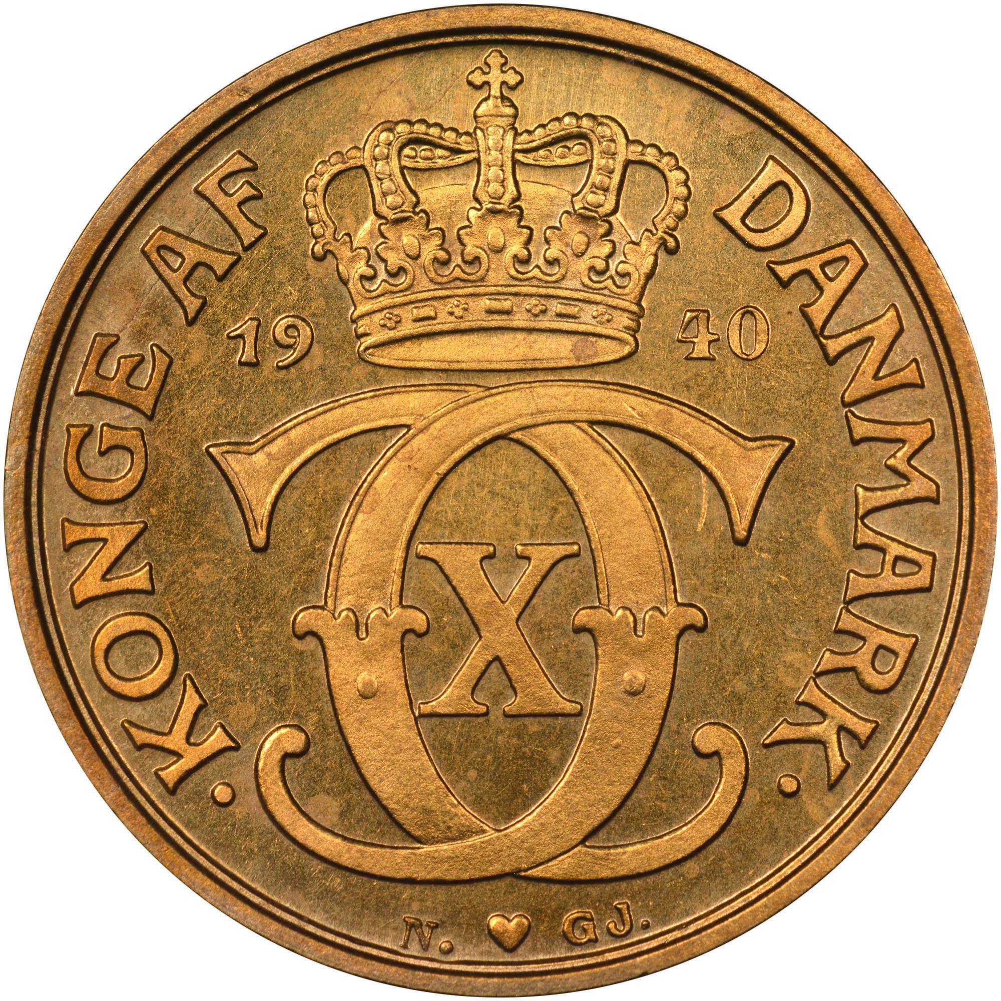 1929-1941 Denmark Krone obverse