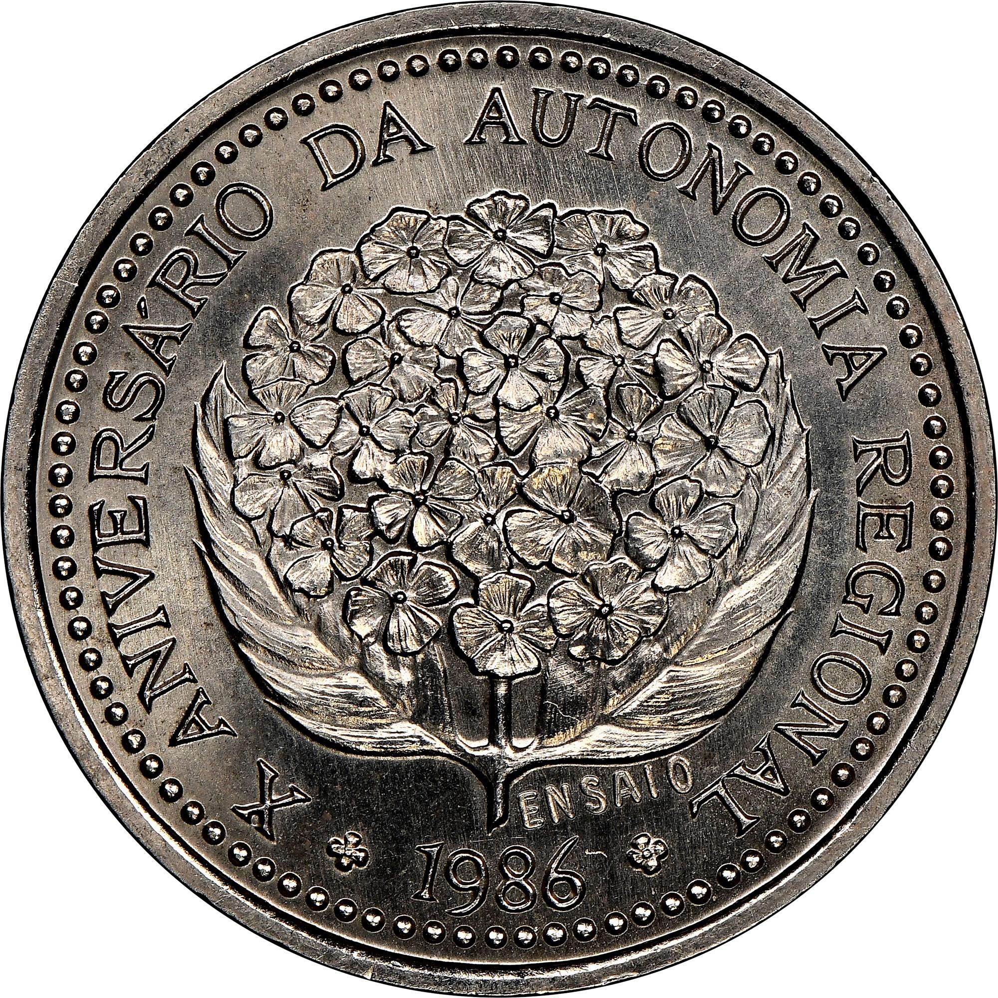 Azores 100 Escudos reverse