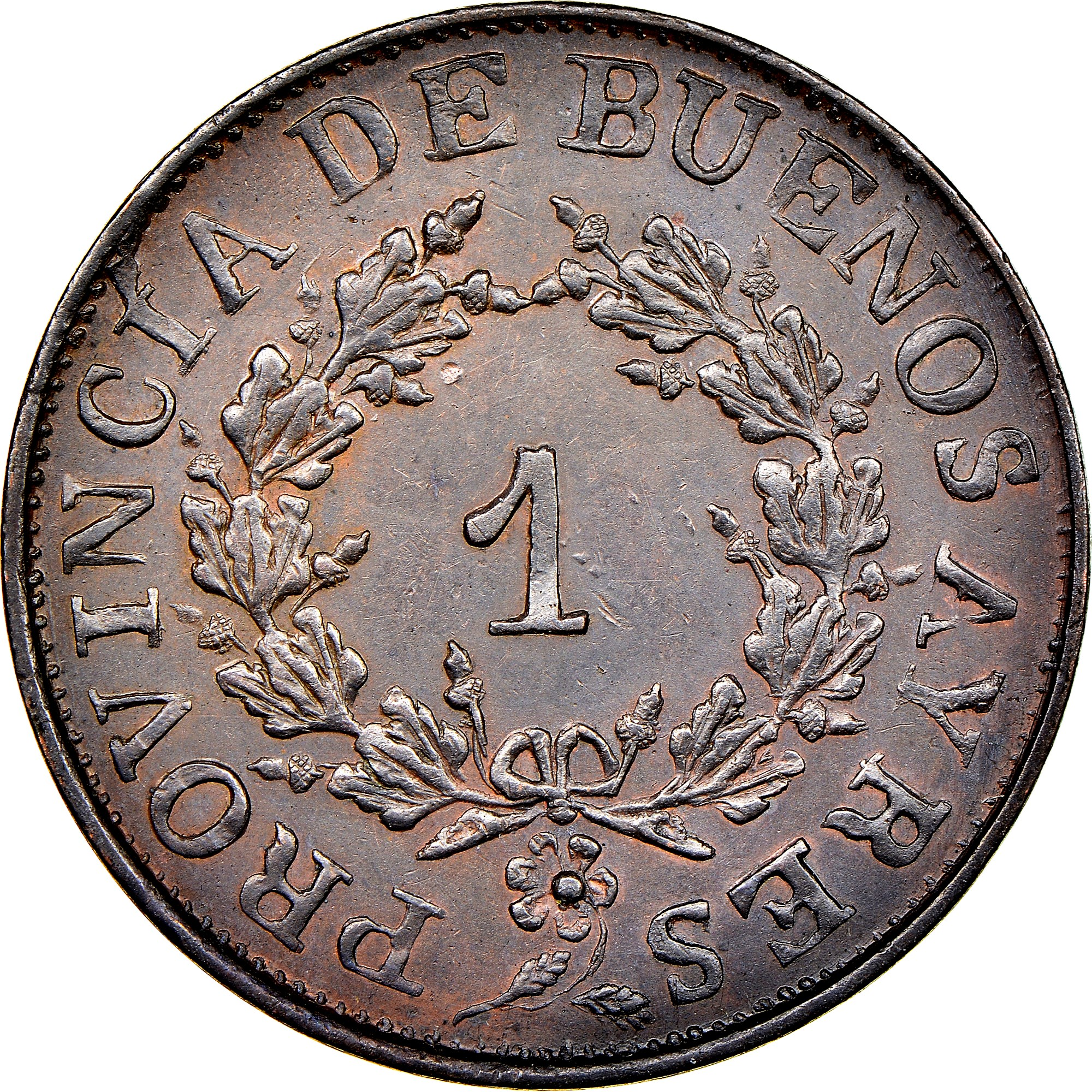Argentina BUENOS AIRES Real obverse
