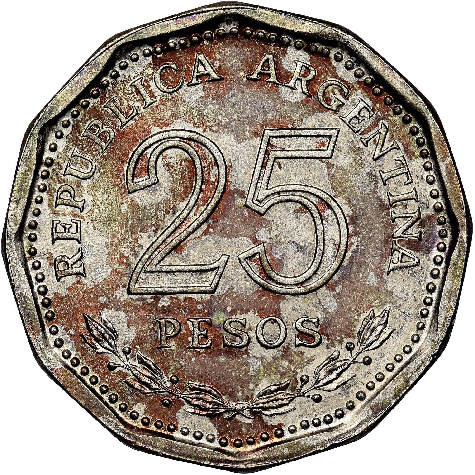 Argentina 25 Pesos obverse