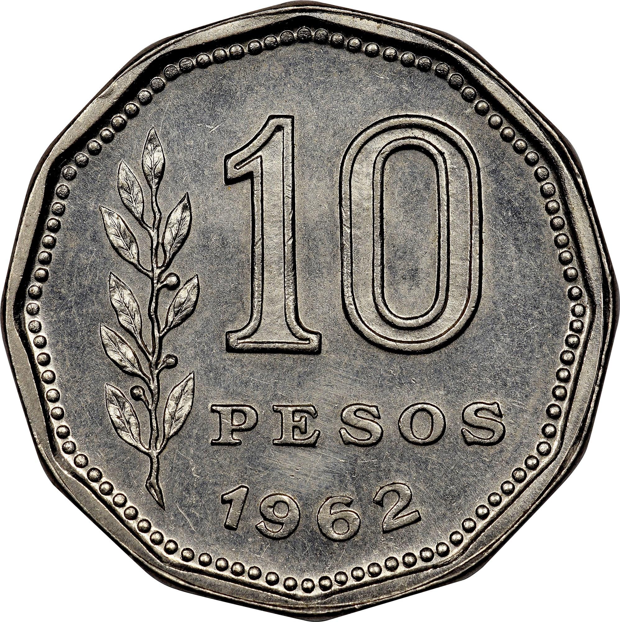 Argentina 10 Pesos reverse