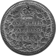 Great Britain 1/3 Farthing reverse