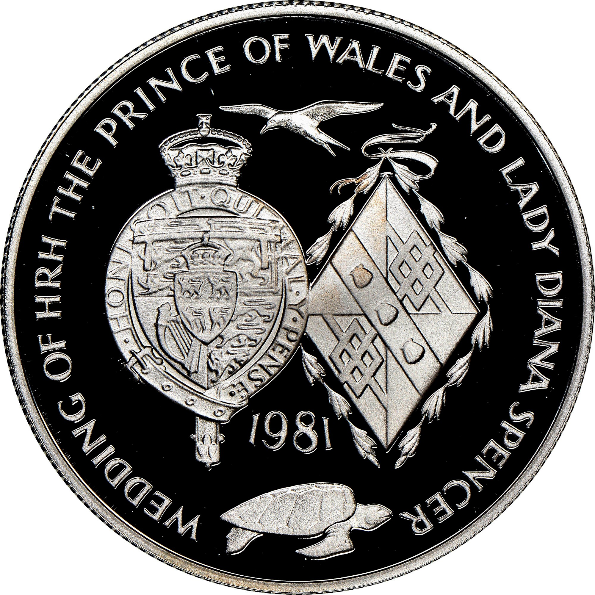 Ascension Island 25 Pence reverse