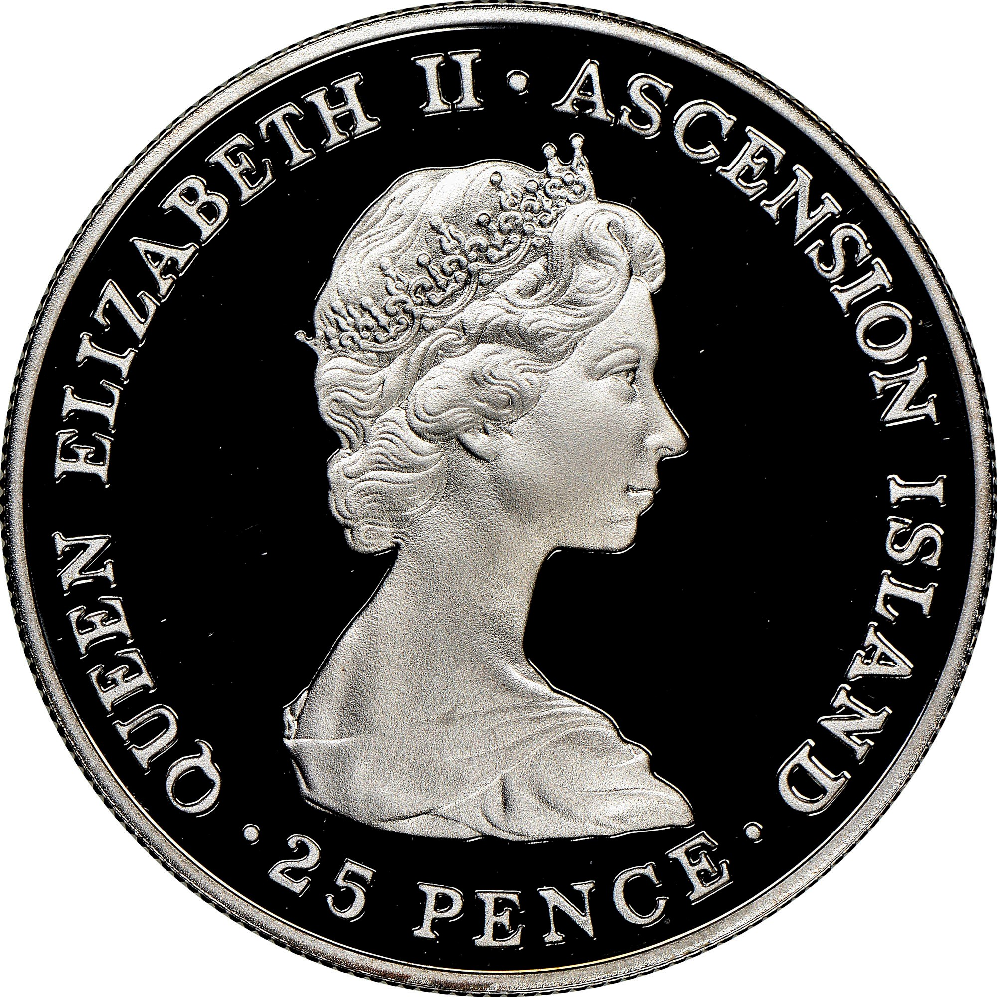 Ascension Island 25 Pence obverse