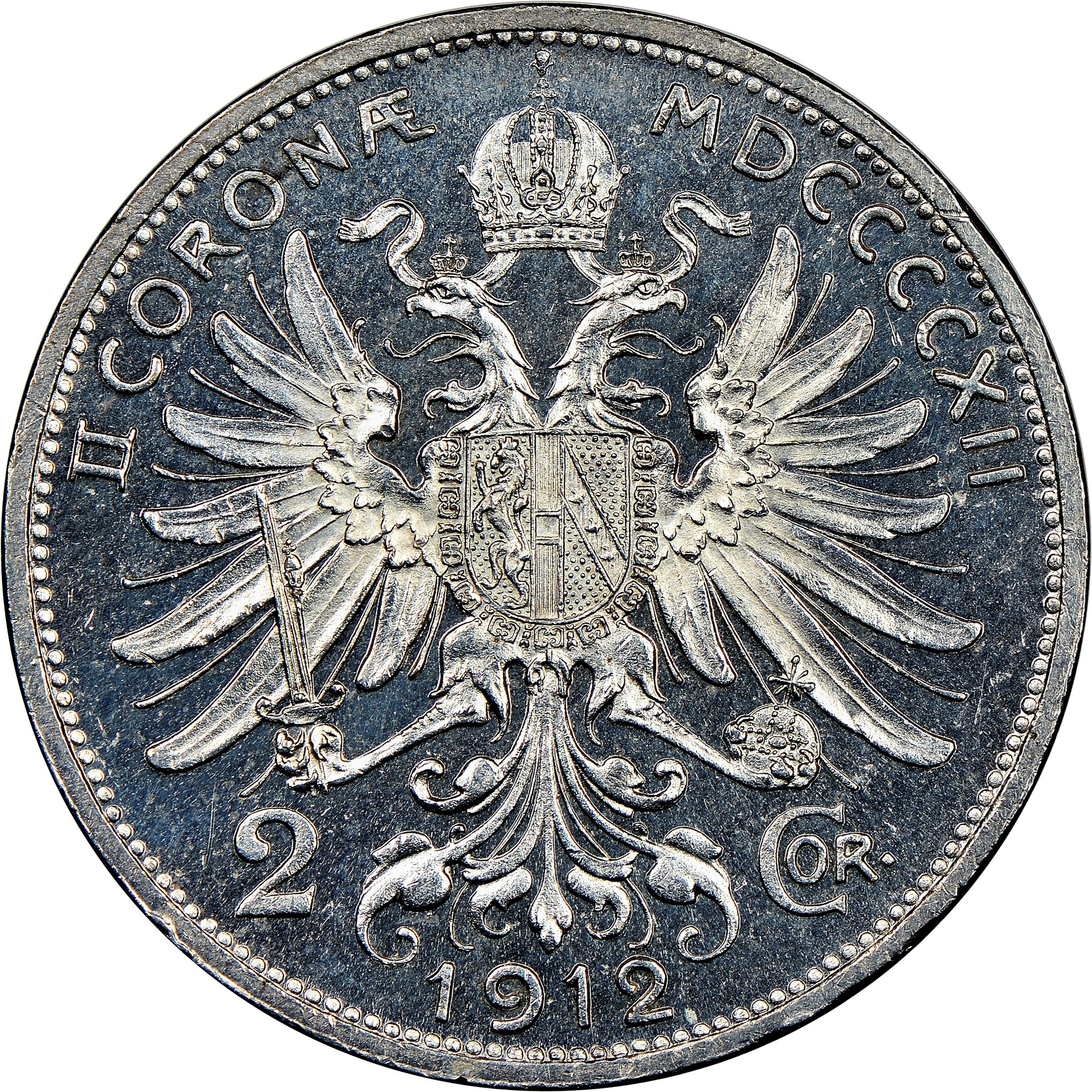 Austria 2 Corona reverse