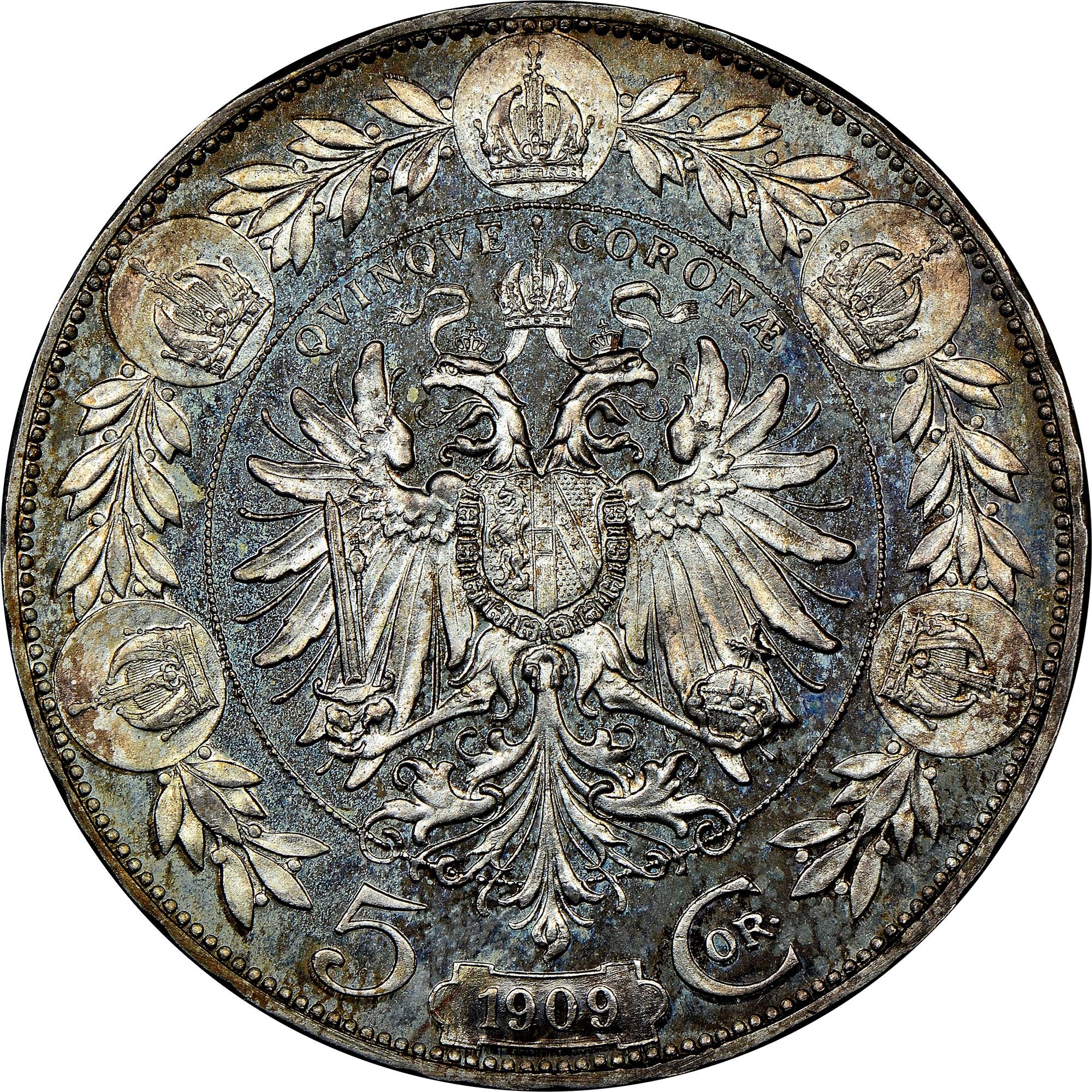 Austria 5 Corona reverse