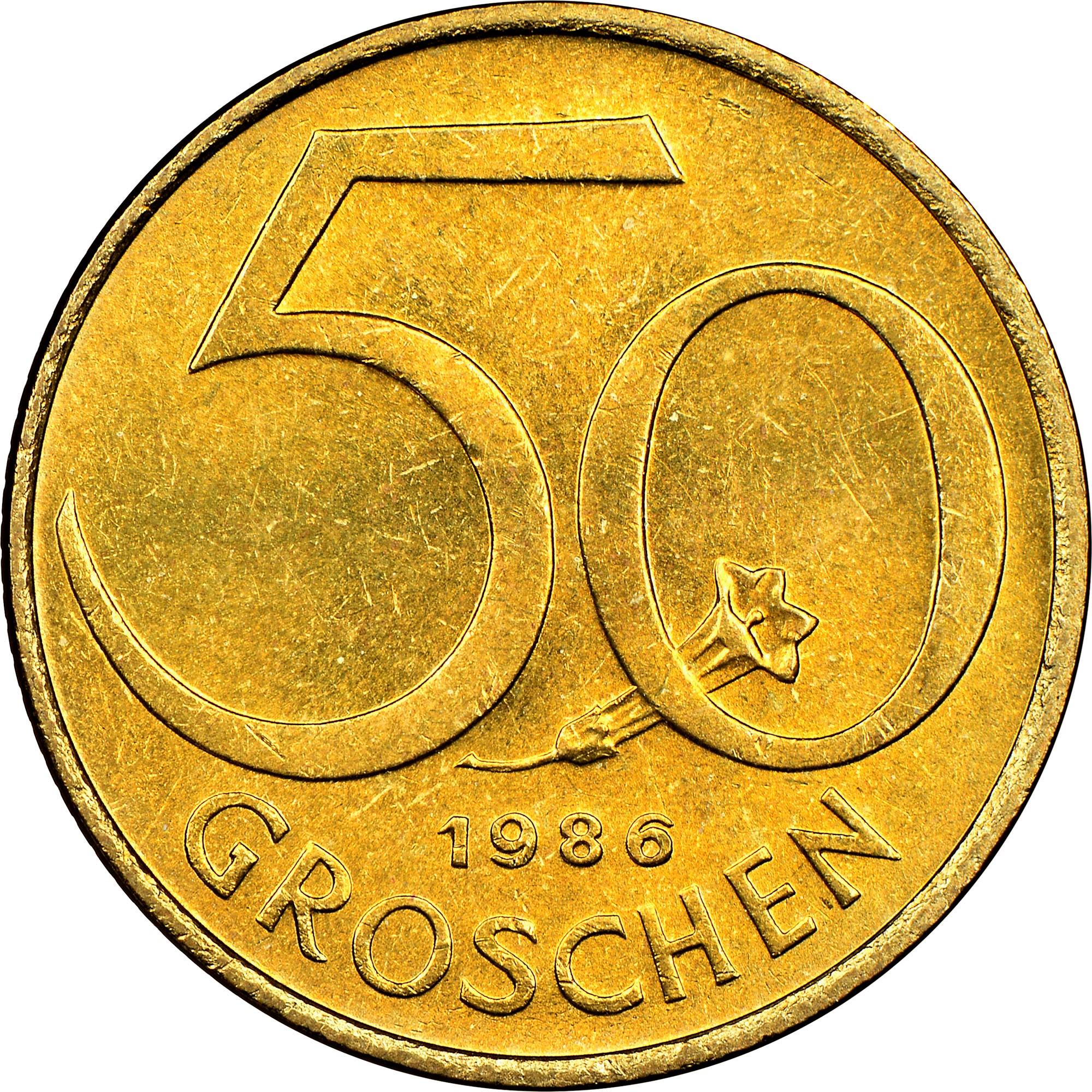 Austria 50 Groschen reverse