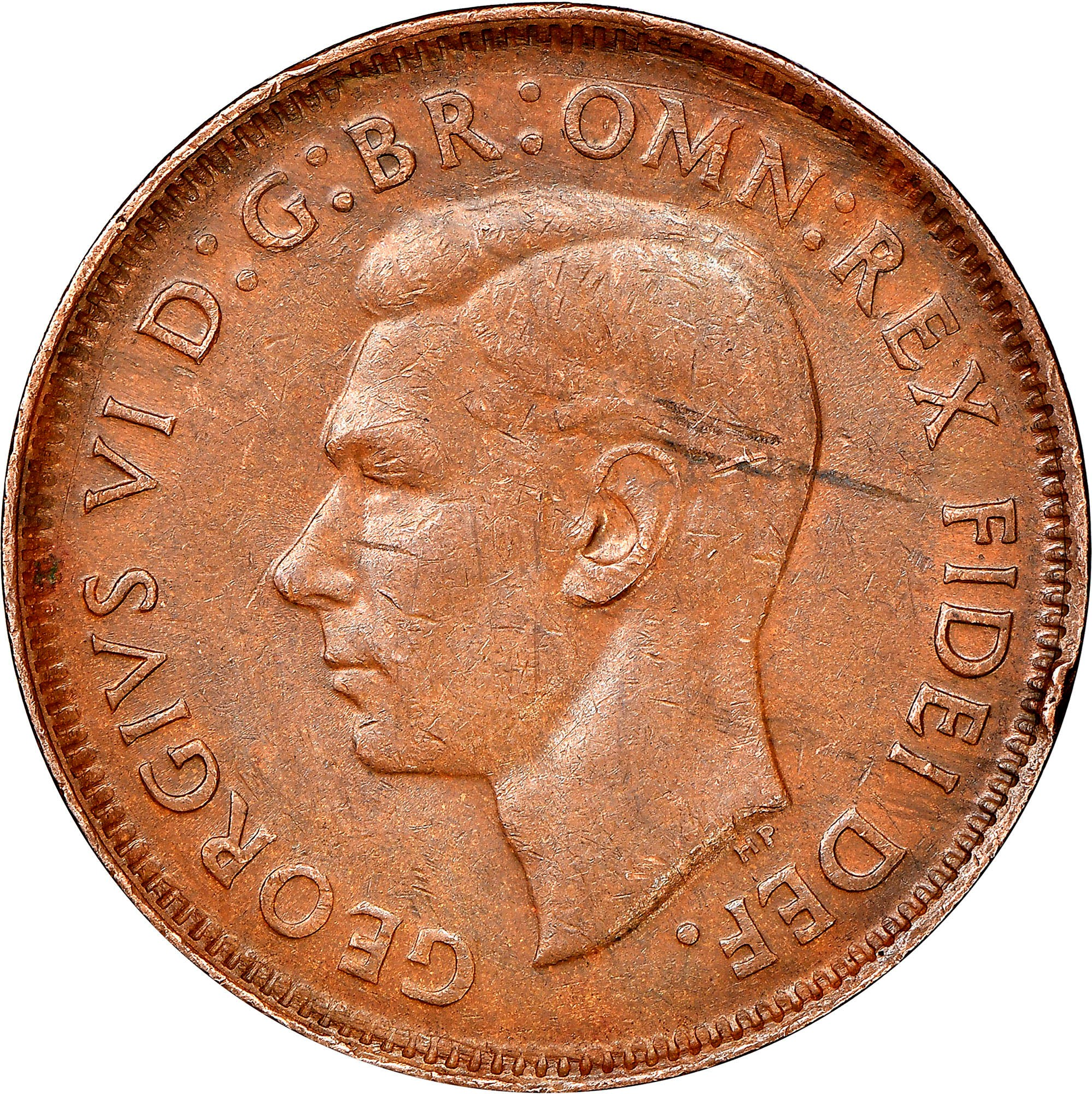 Australia 1/2 Penny obverse