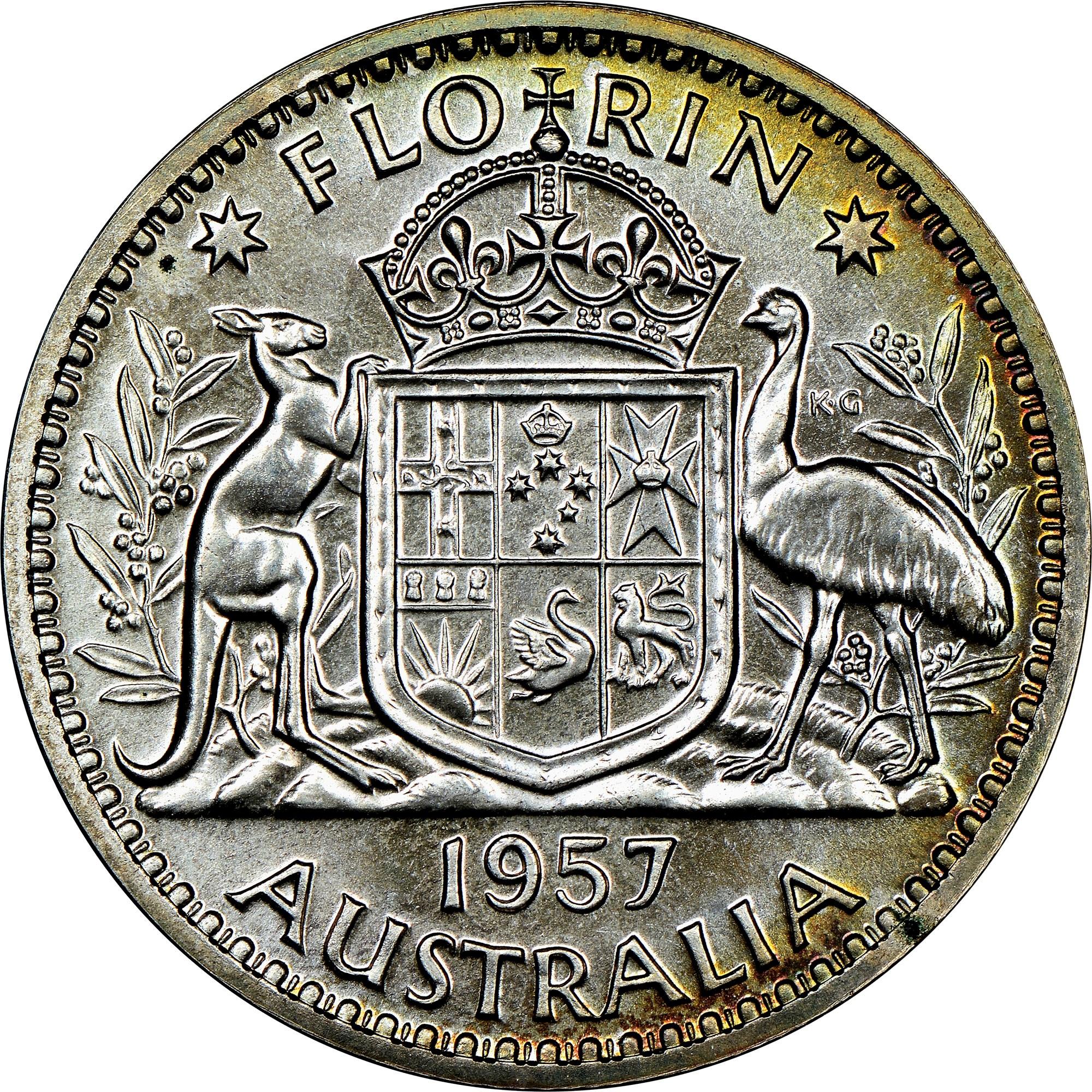 Australia Florin reverse