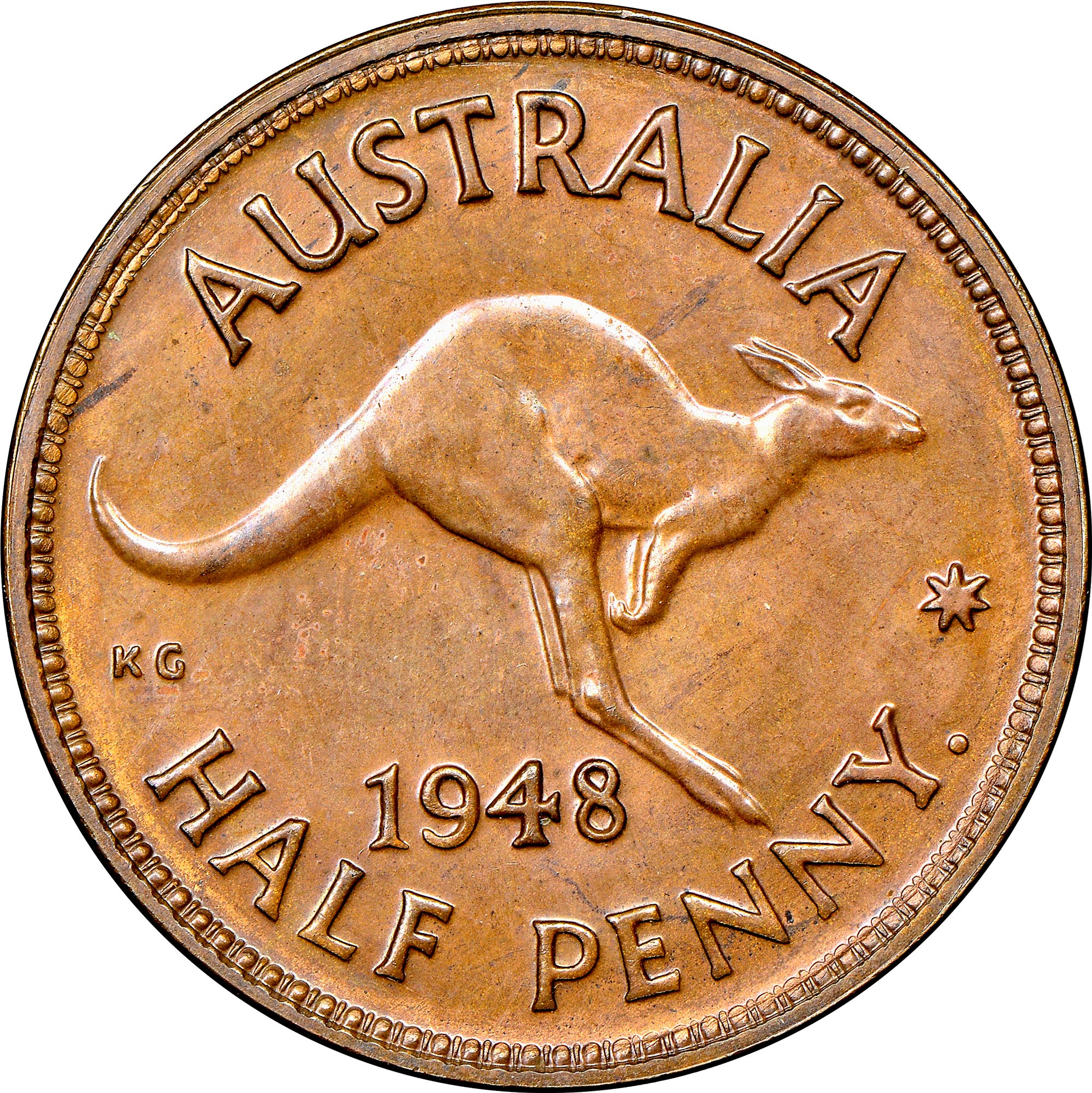 Australia 1/2 Penny KM 41 Prices & Values   NGC