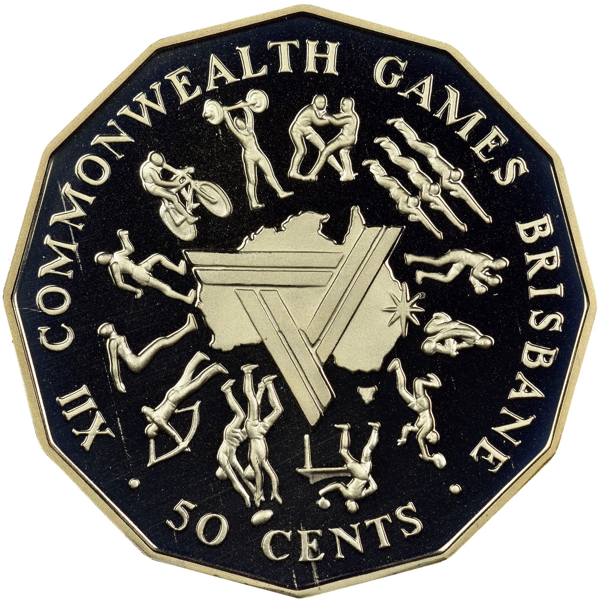 Australia 50 Cents reverse