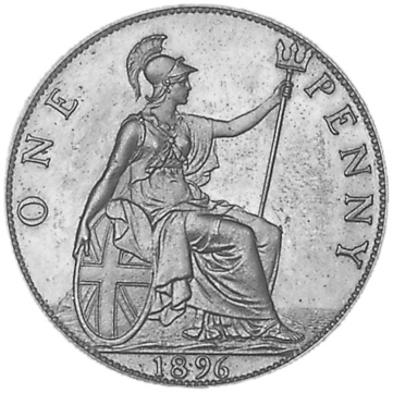 1895-1901 Great Britain Penny reverse