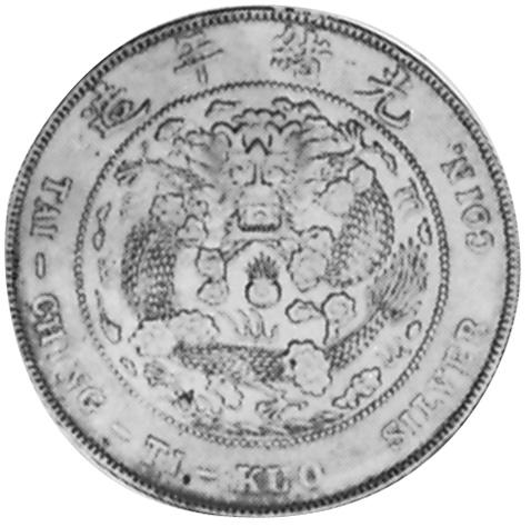(1908) China EMPIRE Dollar reverse