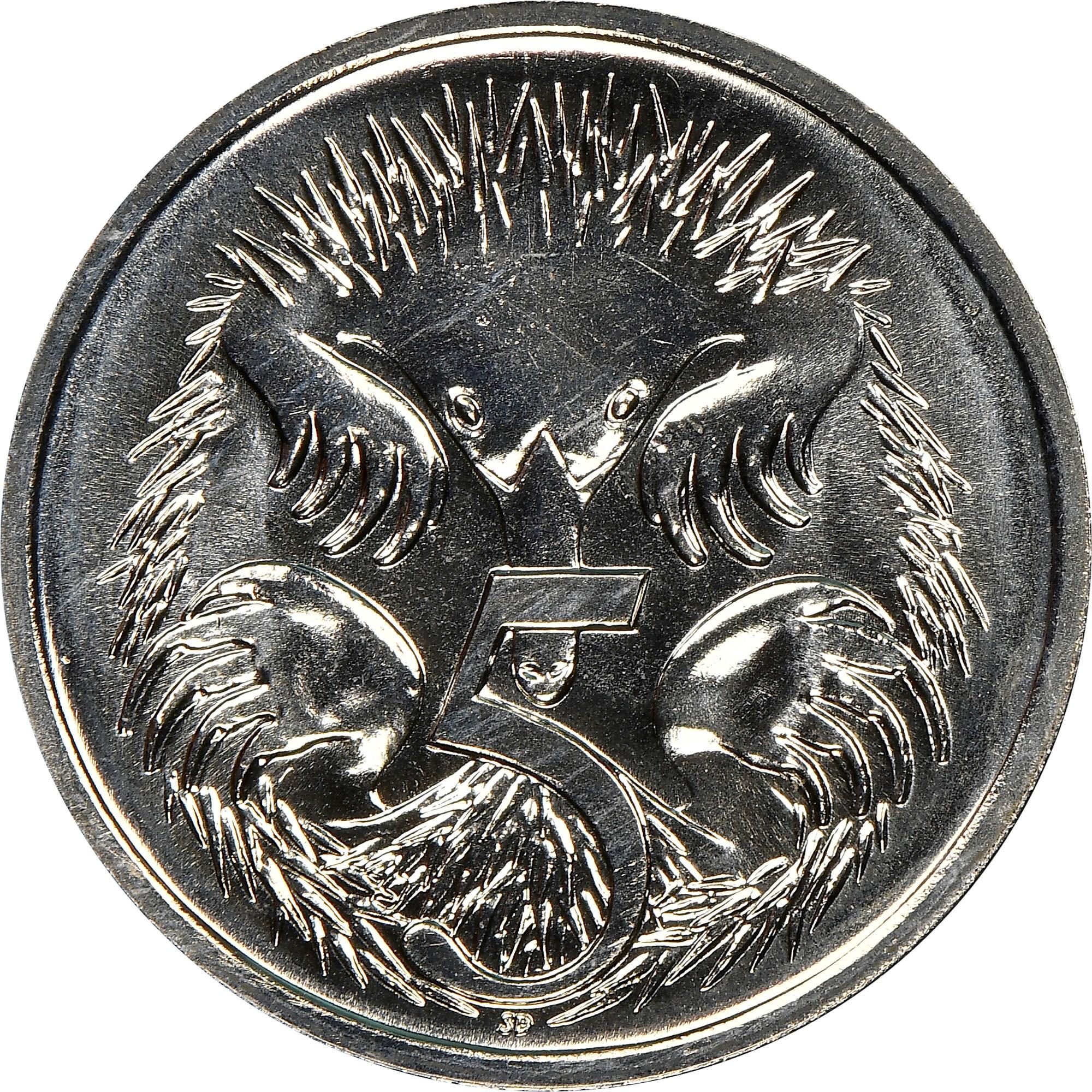 Australia 5 Cents reverse