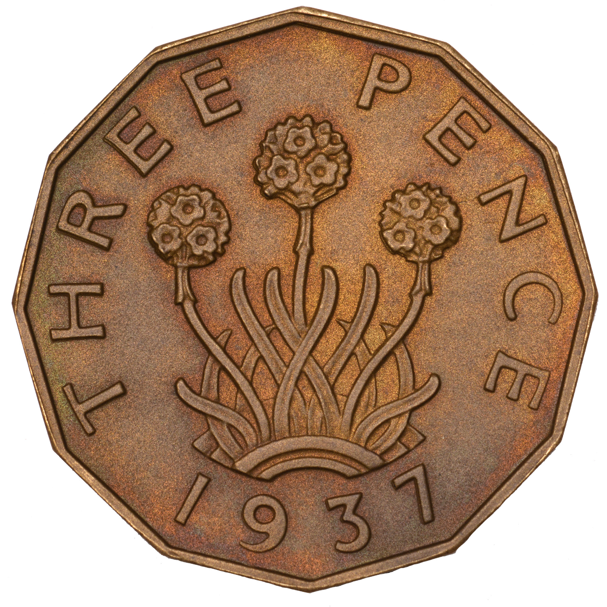 Great Britain 3 Pence reverse
