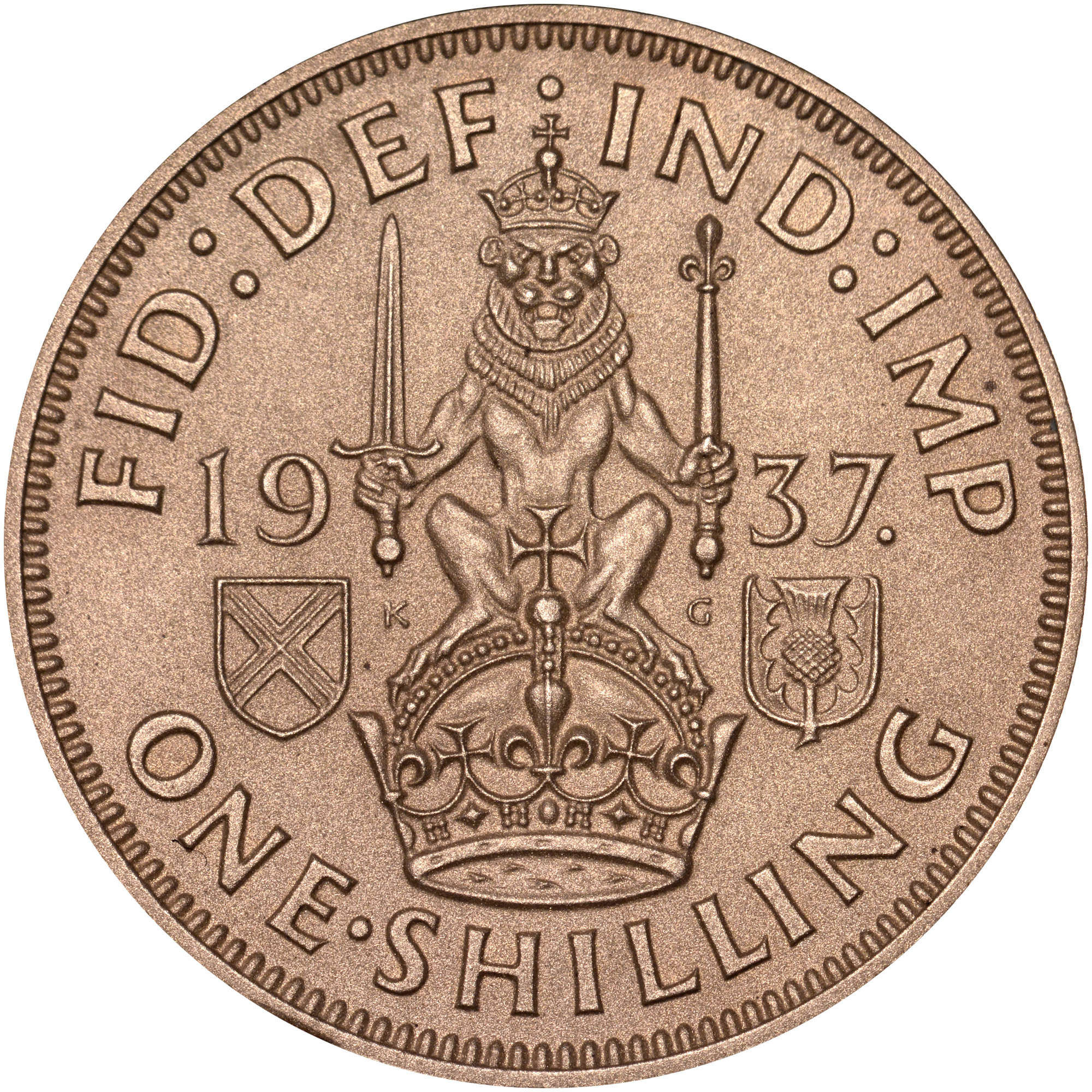 Great Britain 1939 Silver One Shilling Coin.