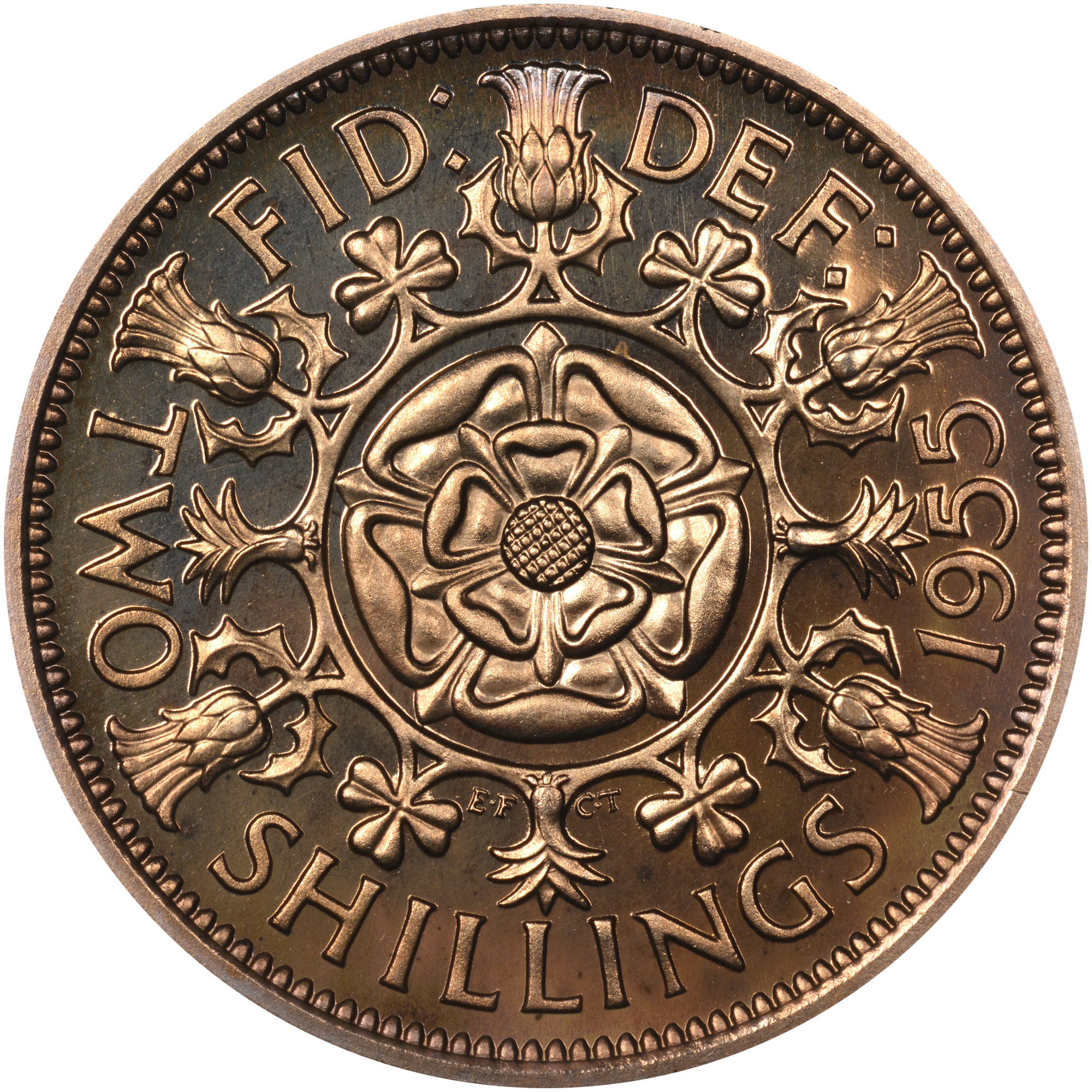 1954 two shilling coin value