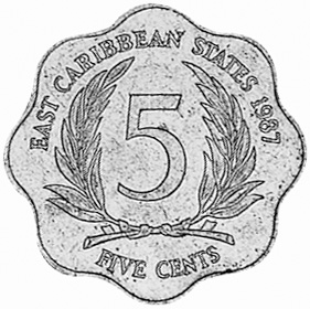 East Caribbean States 5 Cents reverse