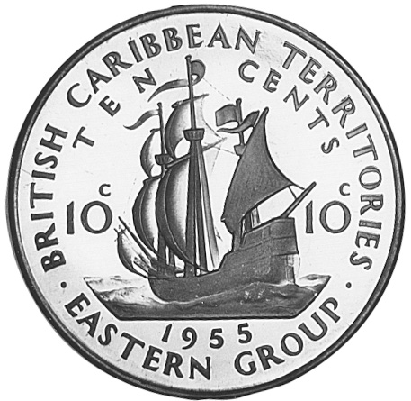 1955-1965 East Caribbean States 10 Cents obverse