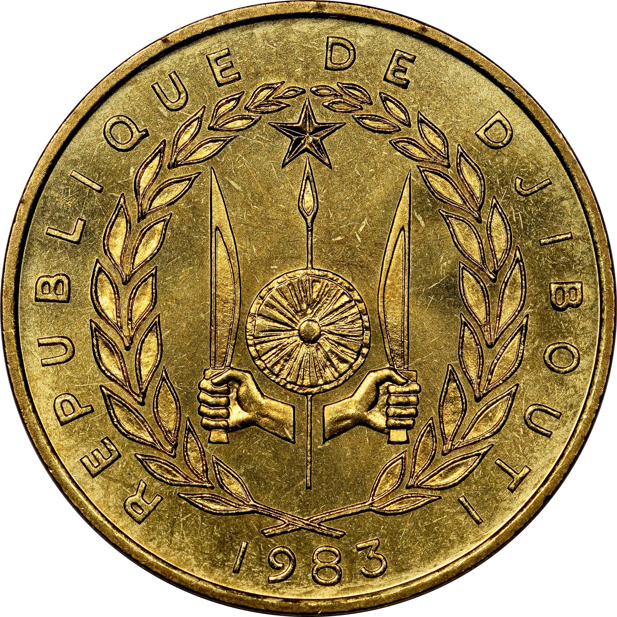 Djibouti 20 Francs obverse