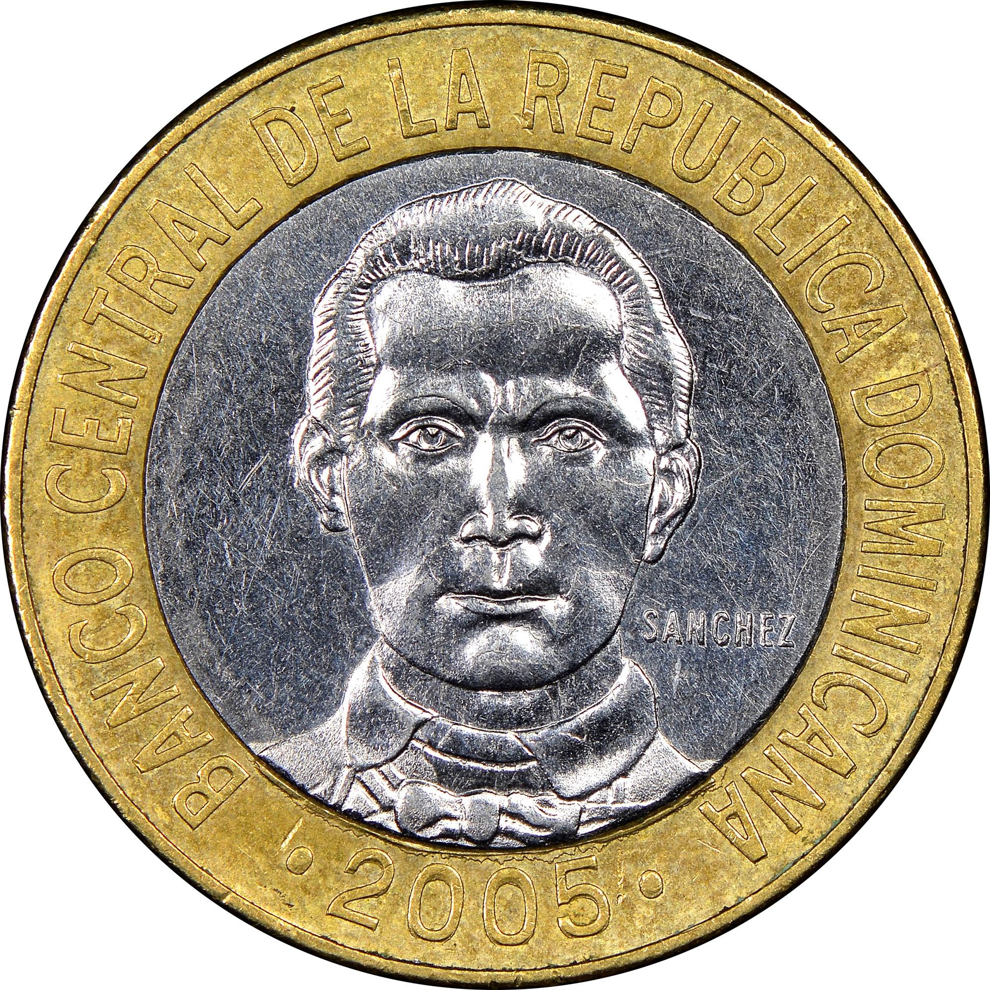Dominican Republic 5 Pesos reverse