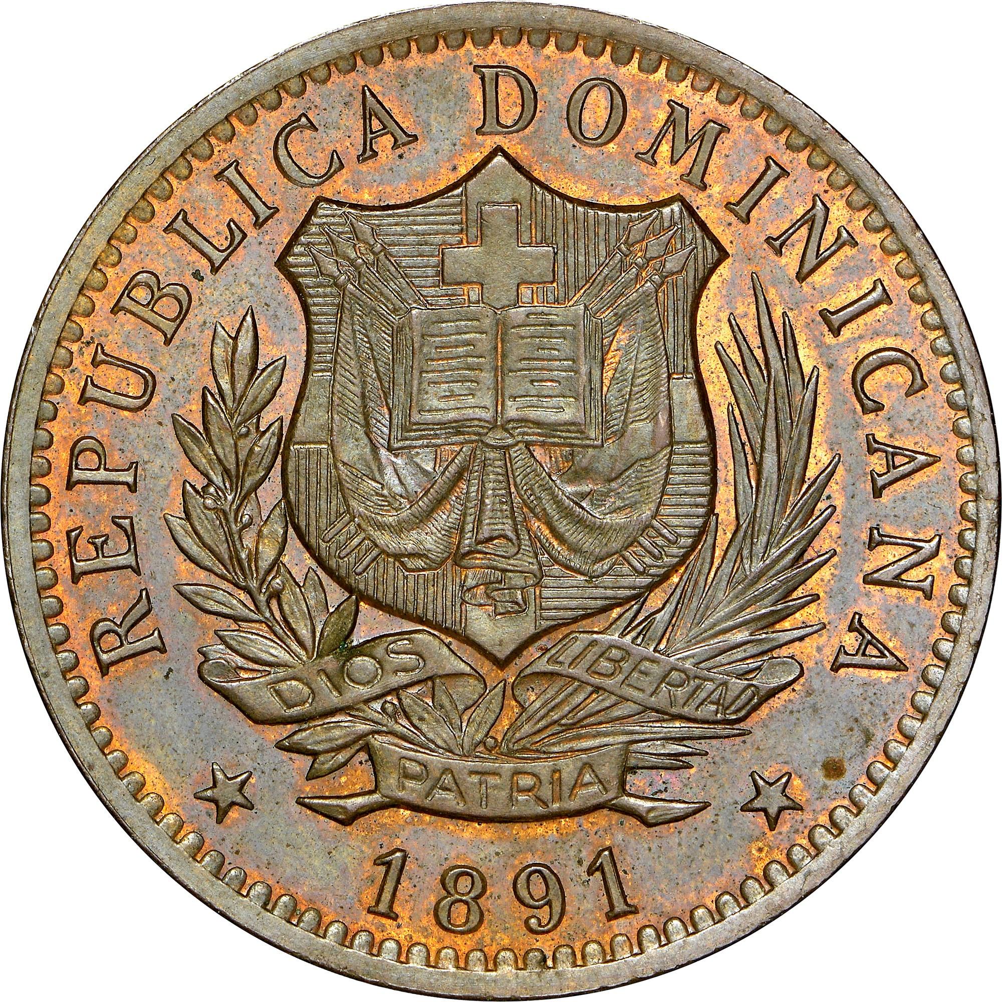 Dominican Republic 10 Centesimos obverse