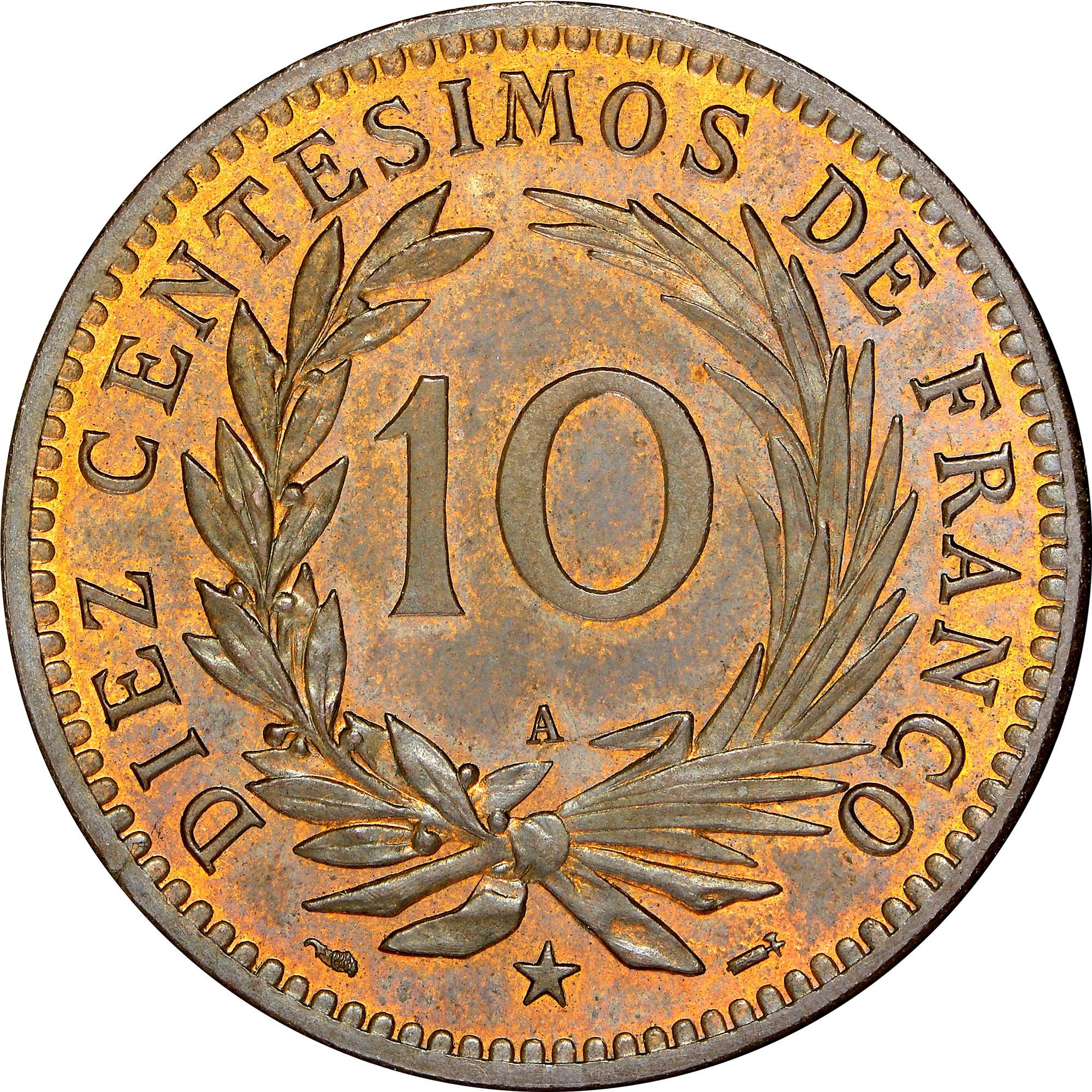 Dominican Republic 10 Centesimos reverse