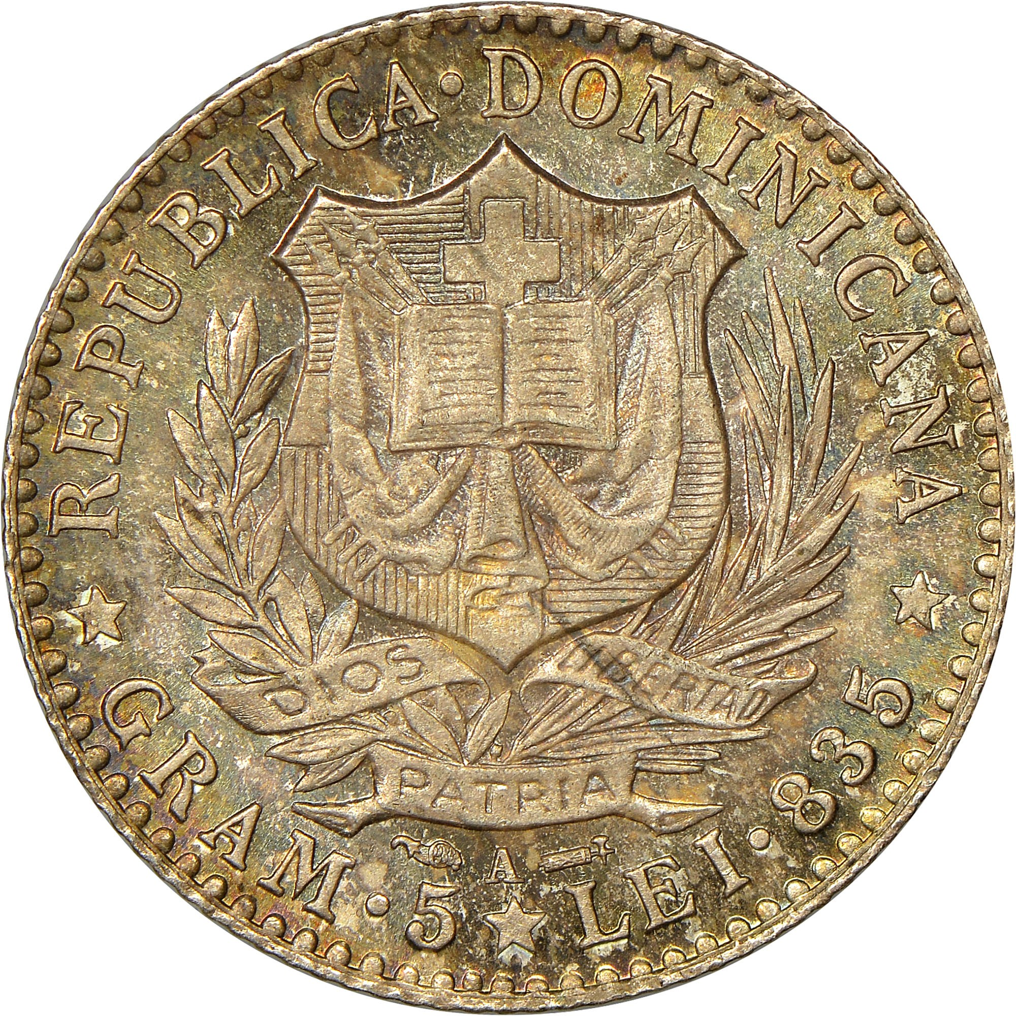 Dominican Republic Franco obverse