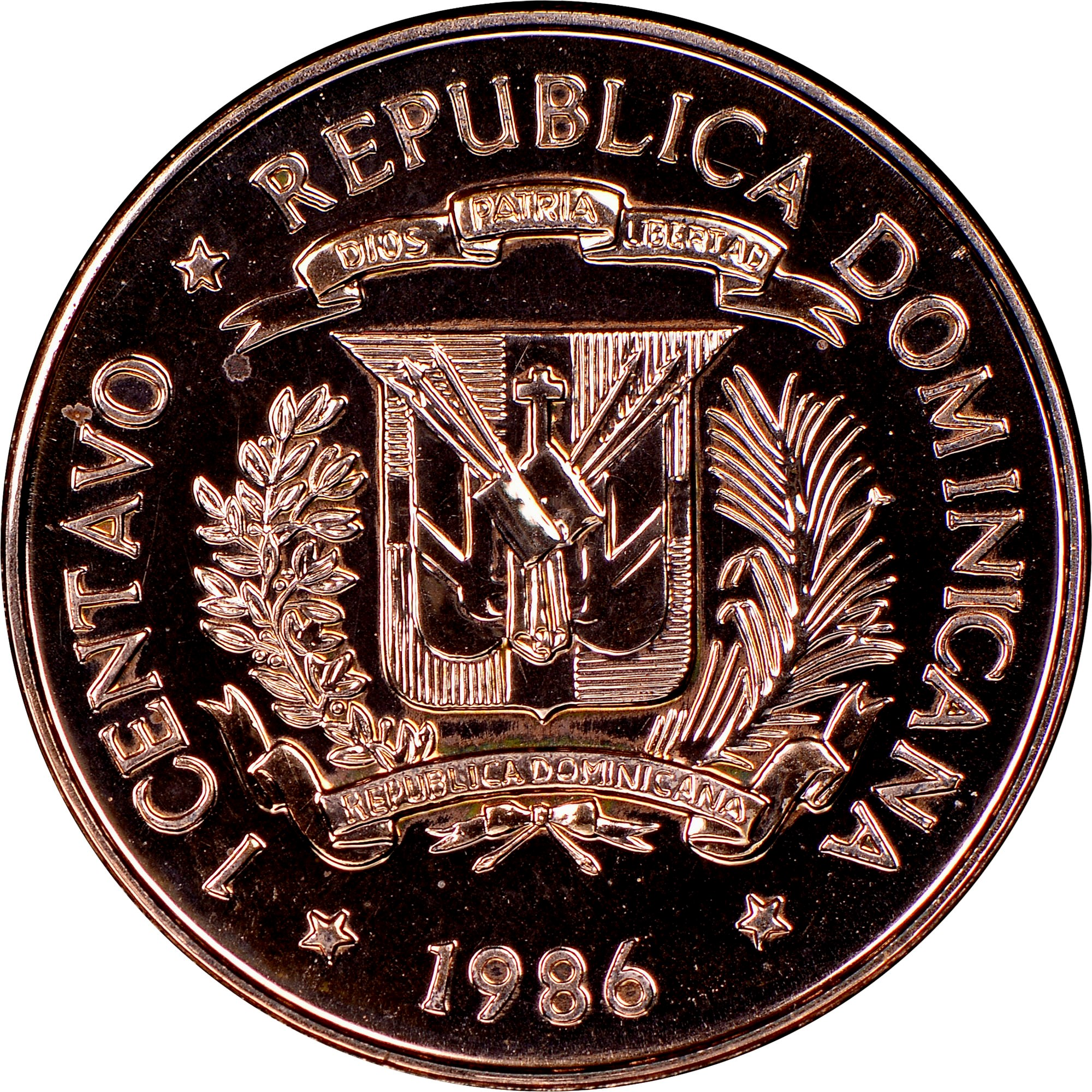 Dominican Republic Centavo obverse