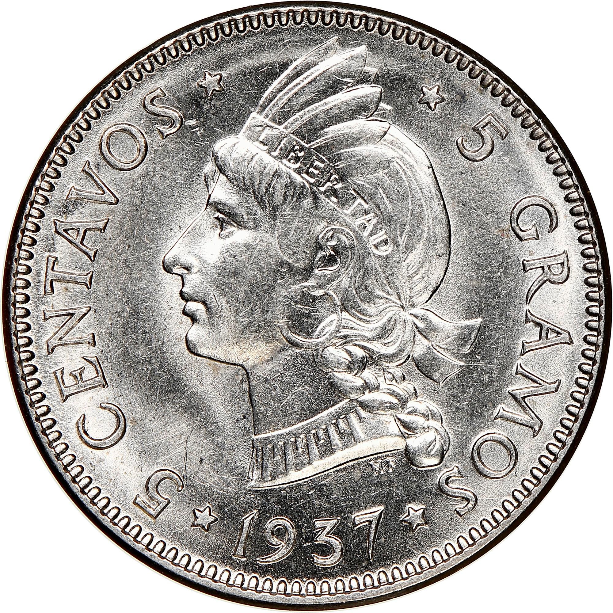 Dominican Republic 5 Centavos reverse