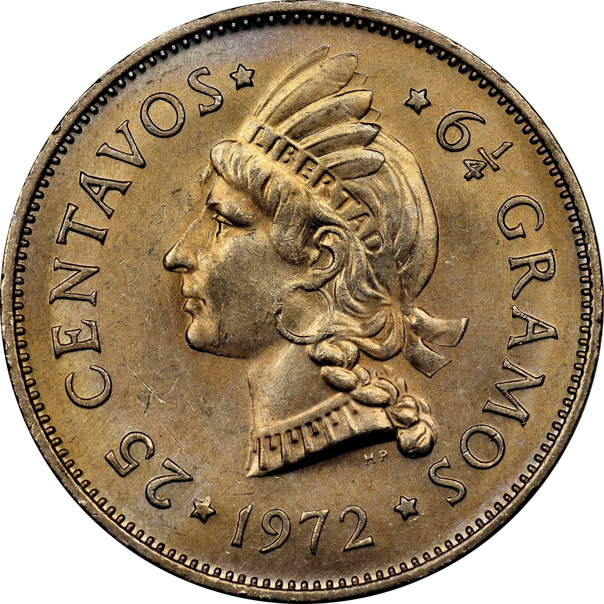 Dominican Republic 25 Centavos reverse