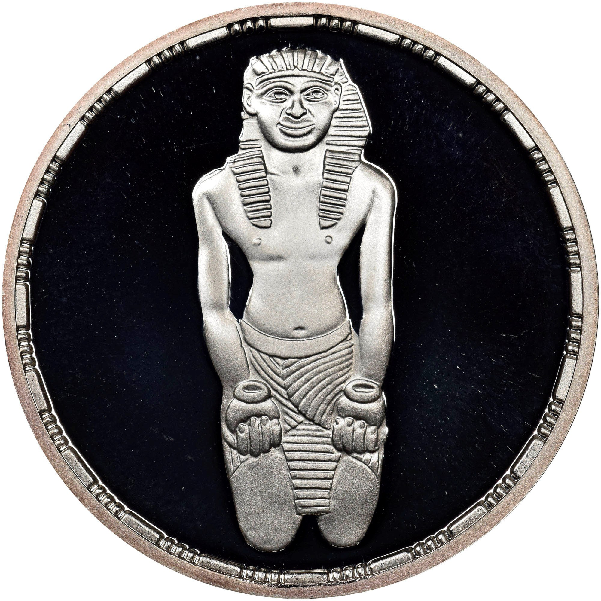 Egypt 1993 Menkaure Triad 5 Pounds Silver Coin,Proof