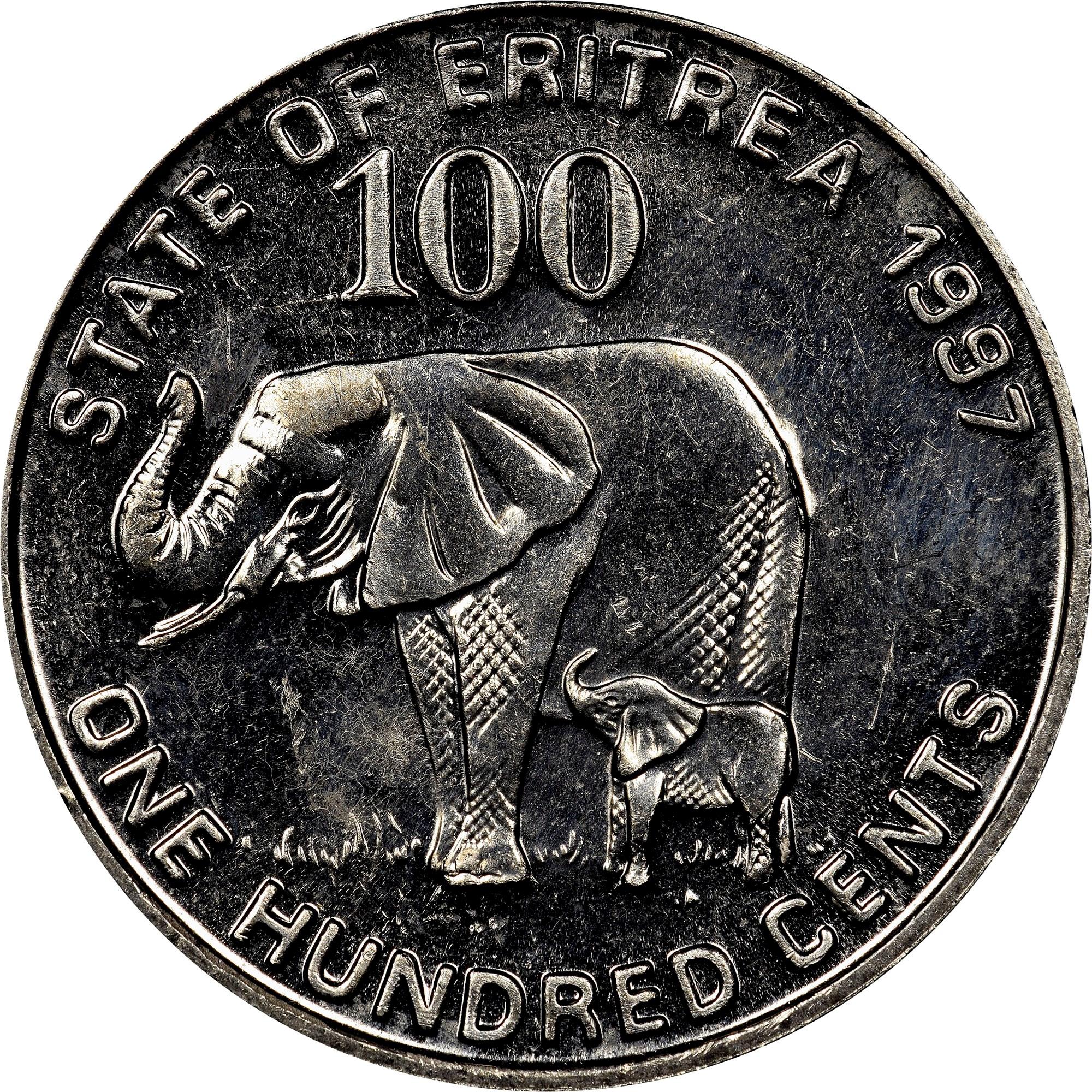 Eritrea 100 Cents obverse