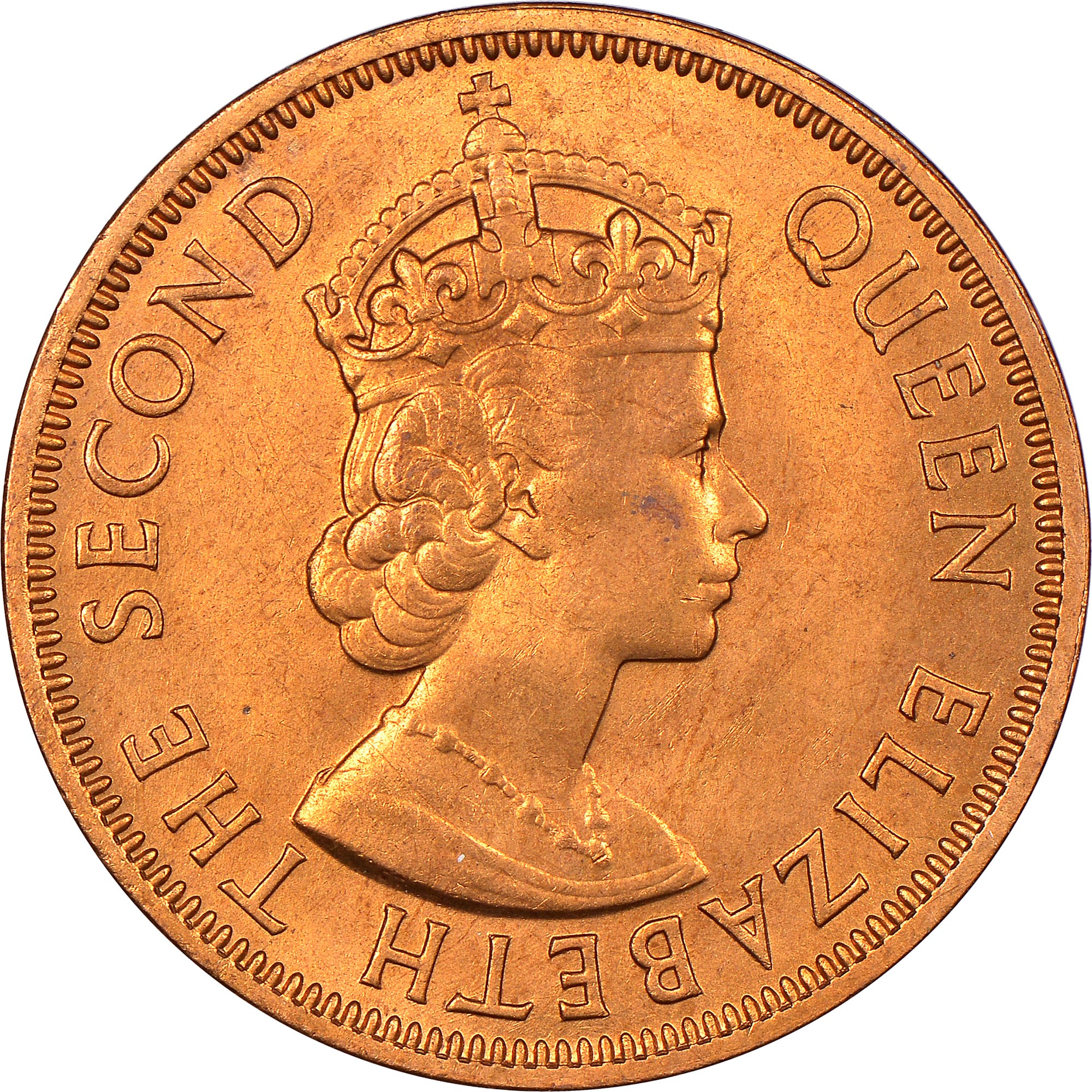 East Caribbean States 1960-1 Cent Bronze Coin Queen Elizabeth II