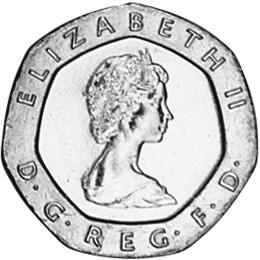 Twenty pence 20 1982 цена лондон денежная единица