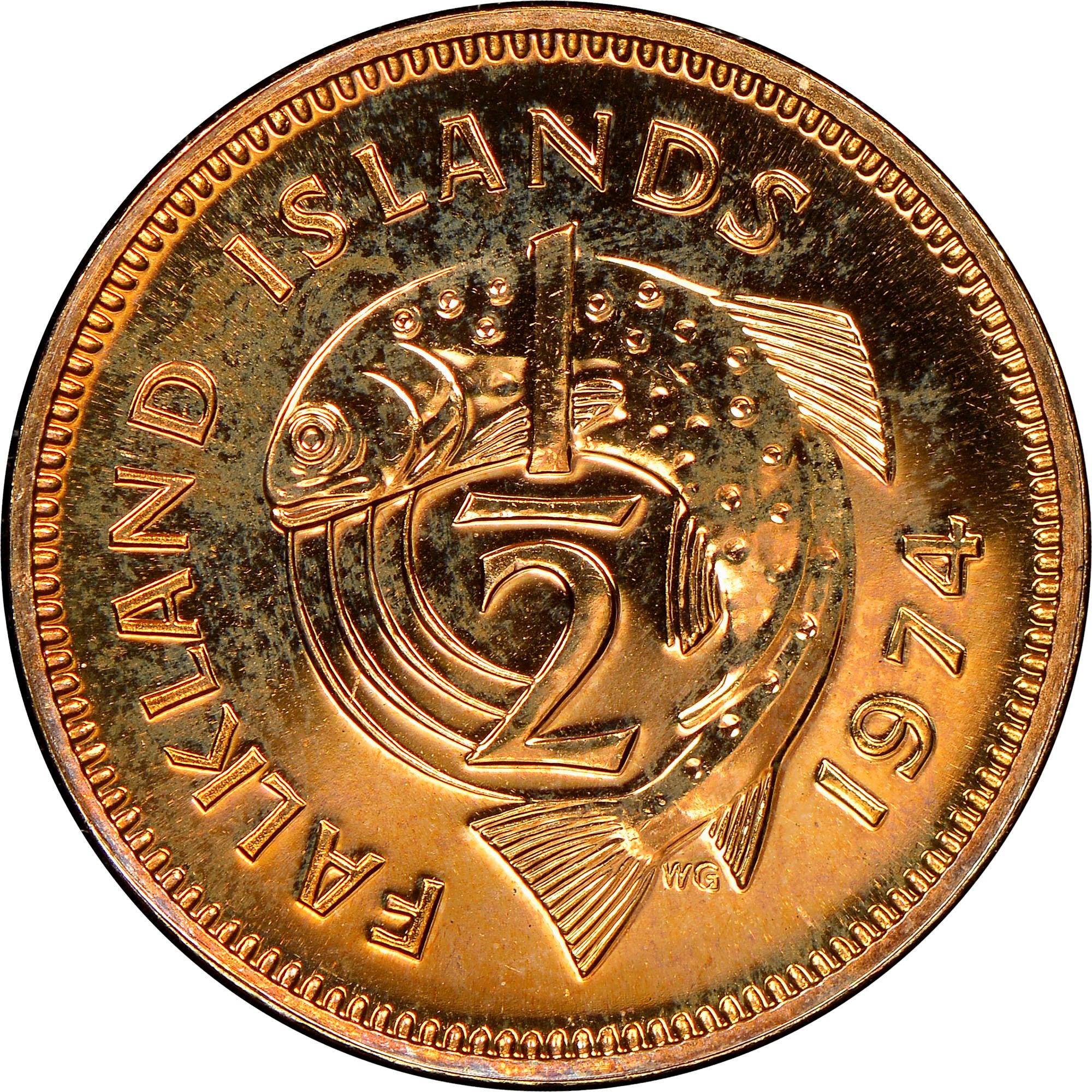 Falkland Islands 1/2 Penny reverse