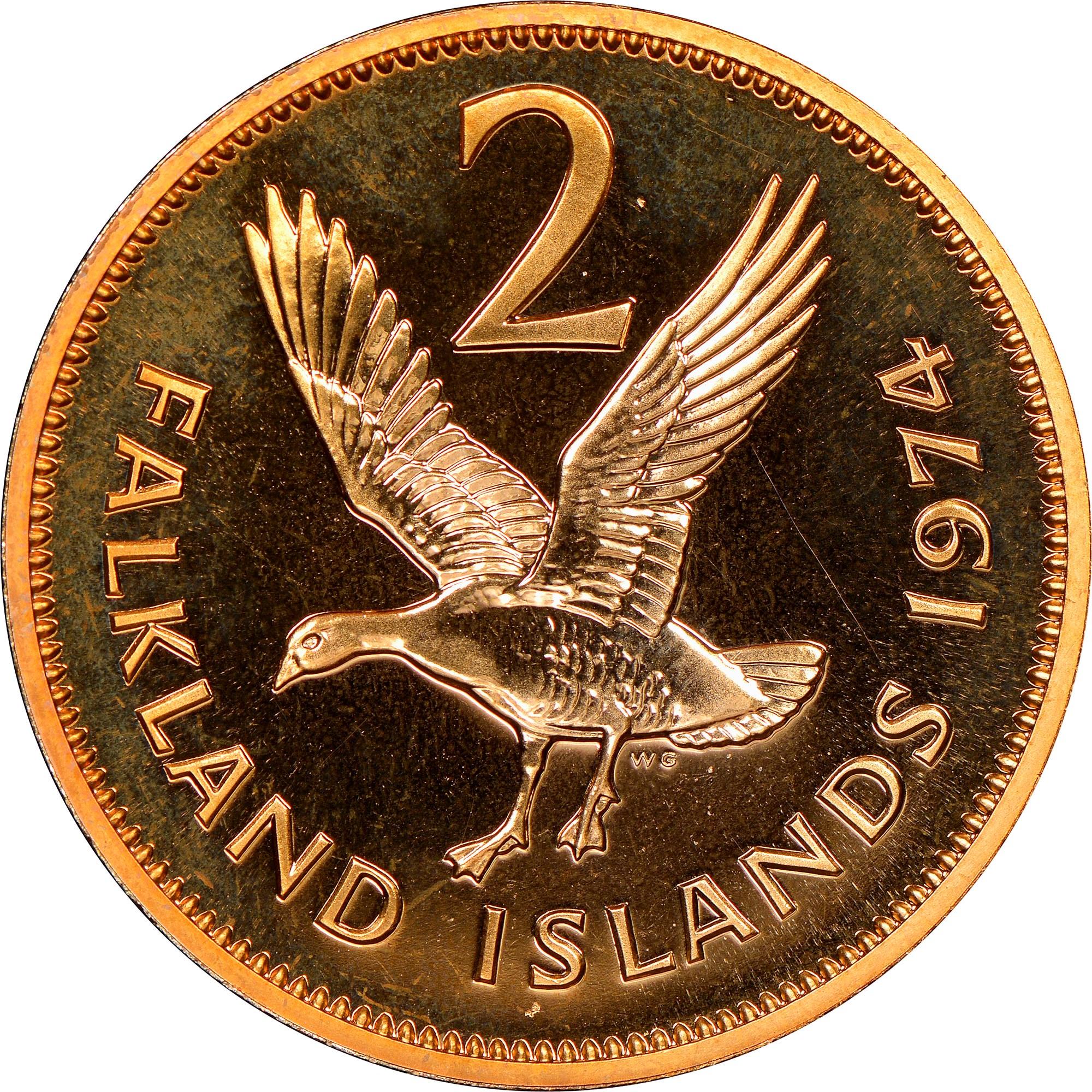 Falkland Islands 2 Pence reverse