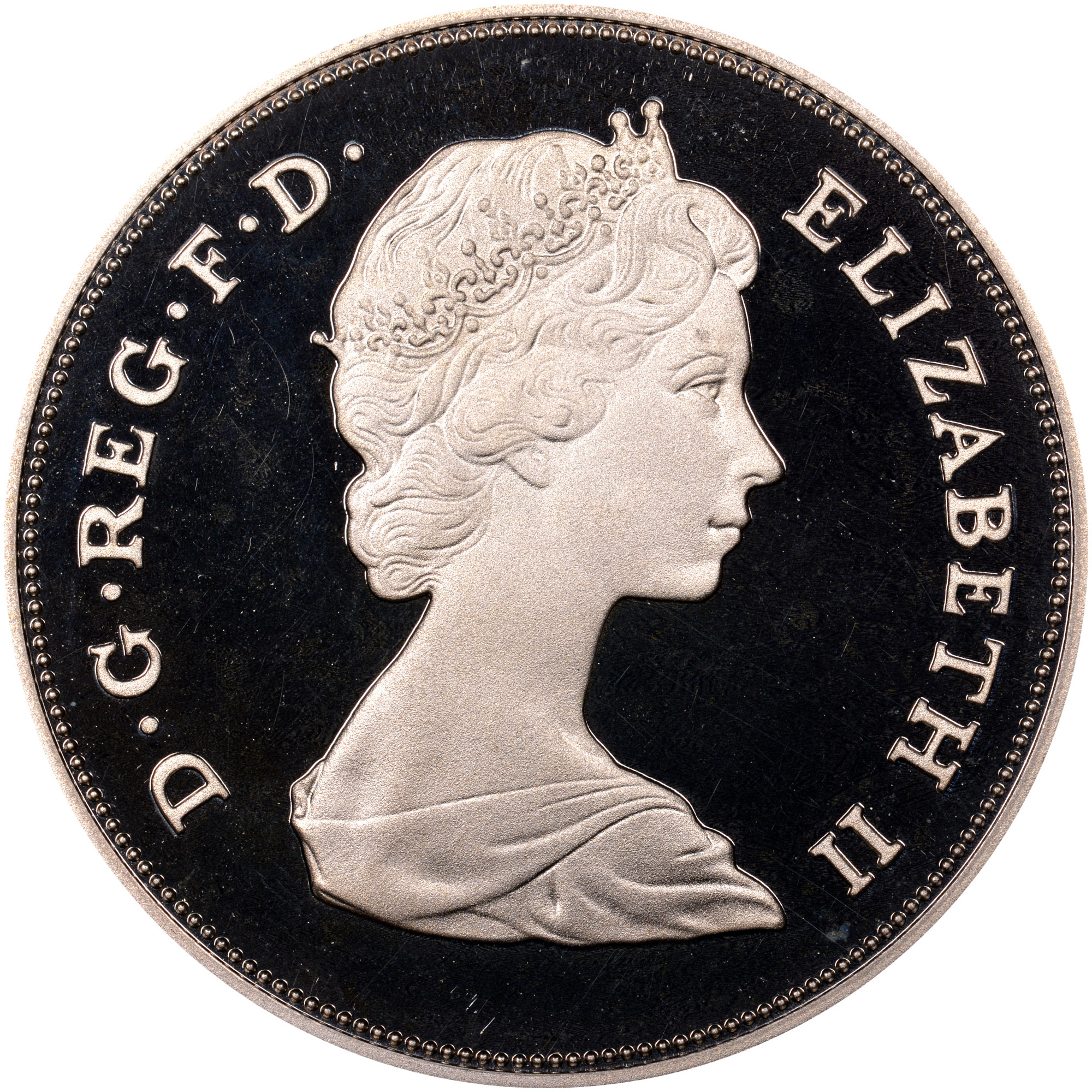 Great Britain 25 New Pence obverse