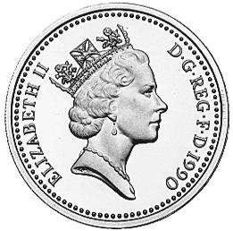 1985-1990 Great Britain Pound obverse