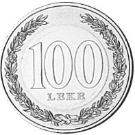 Albania 100 Leke reverse