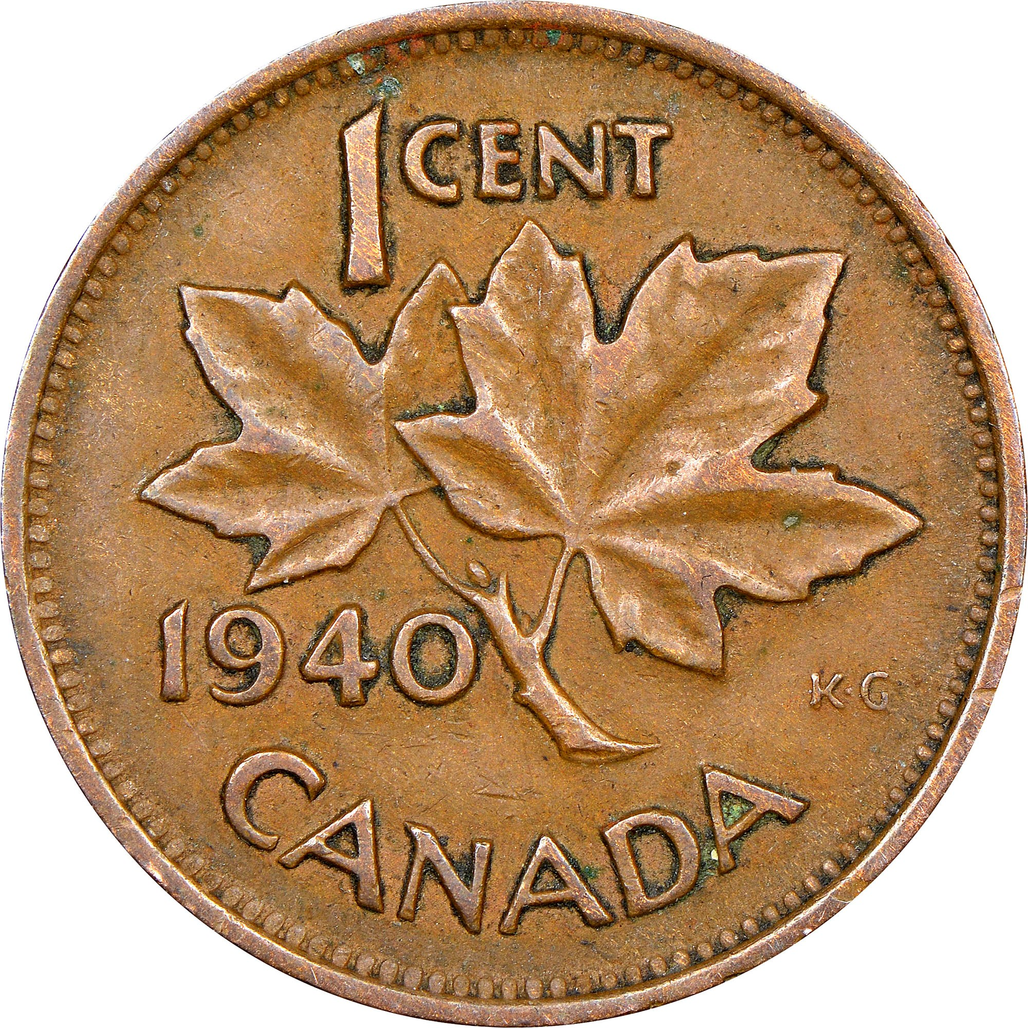 Canada Cent reverse