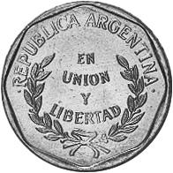 Argentina Centavo obverse