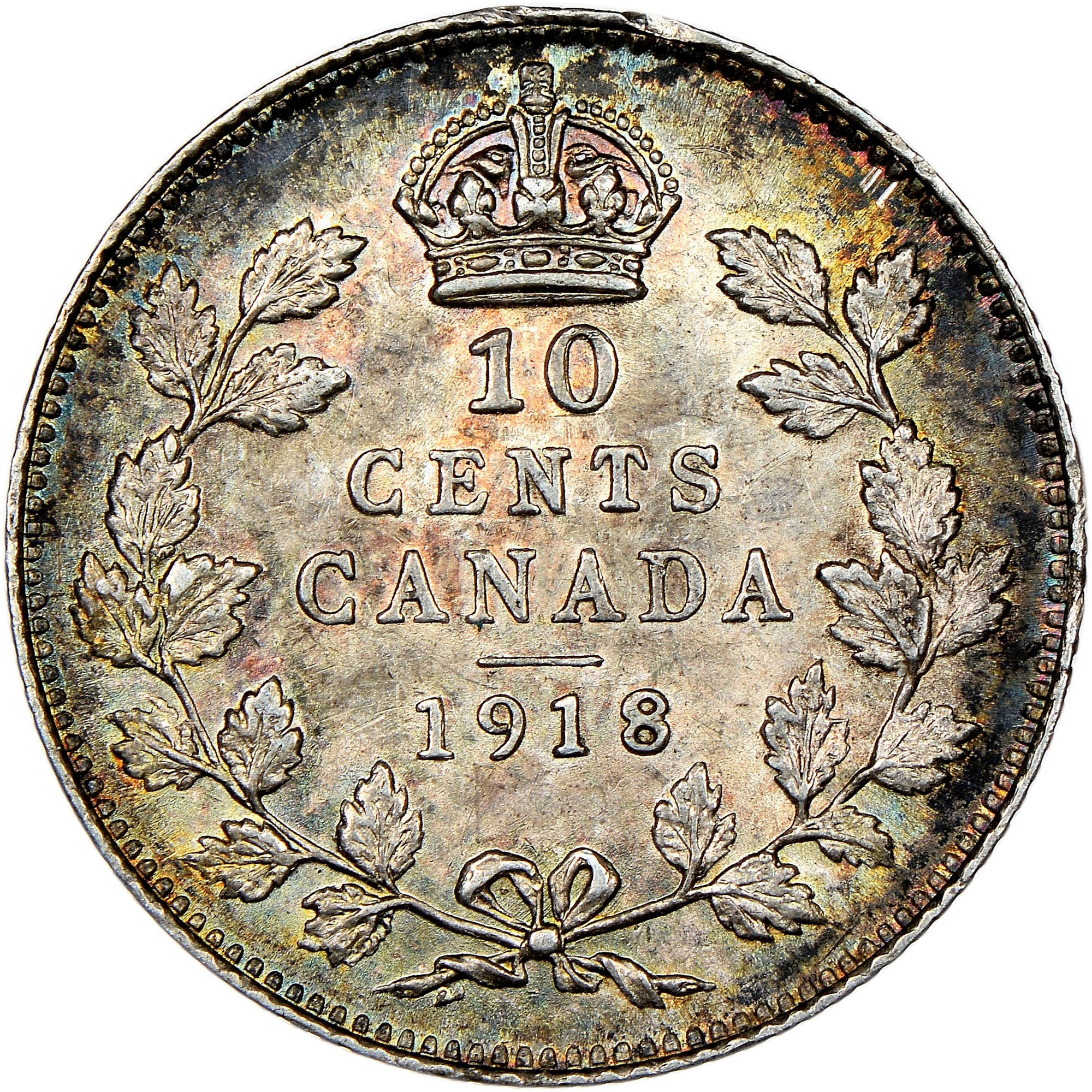 Canada 10 Cents reverse