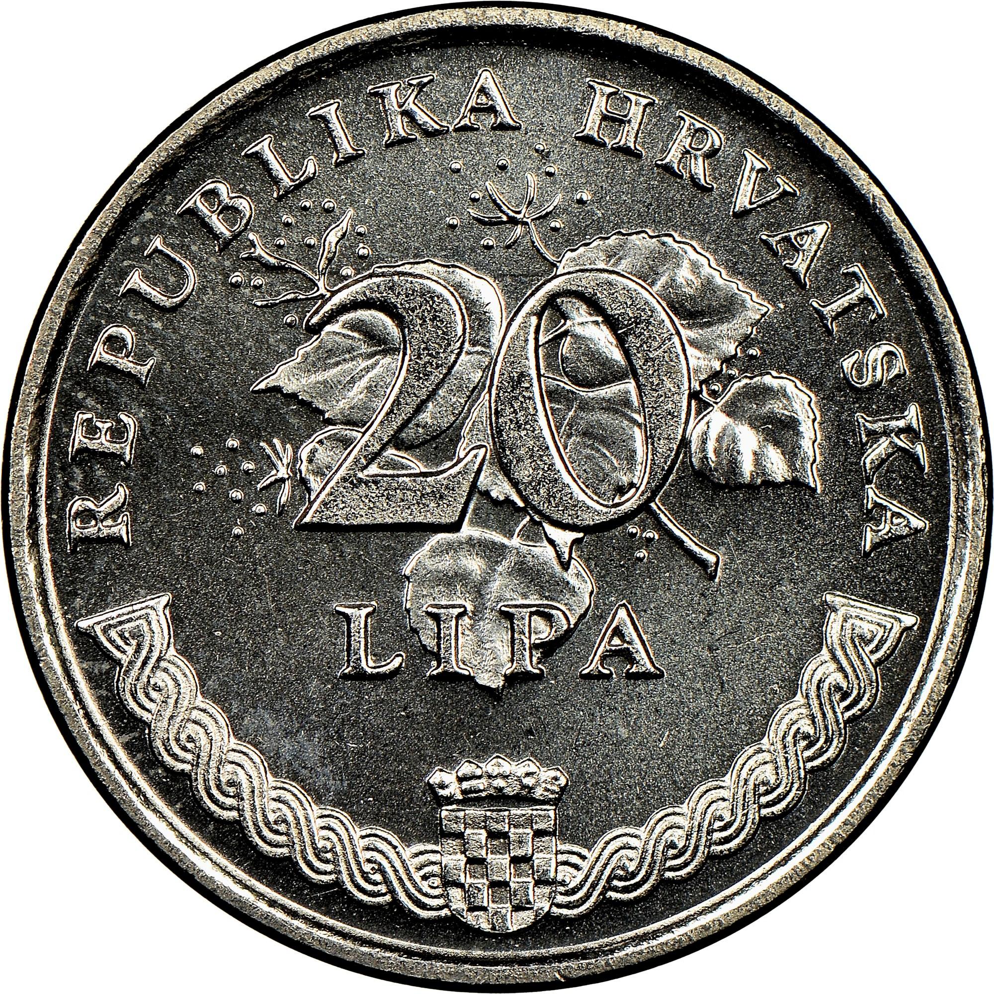 Croatia 20 Lipa obverse