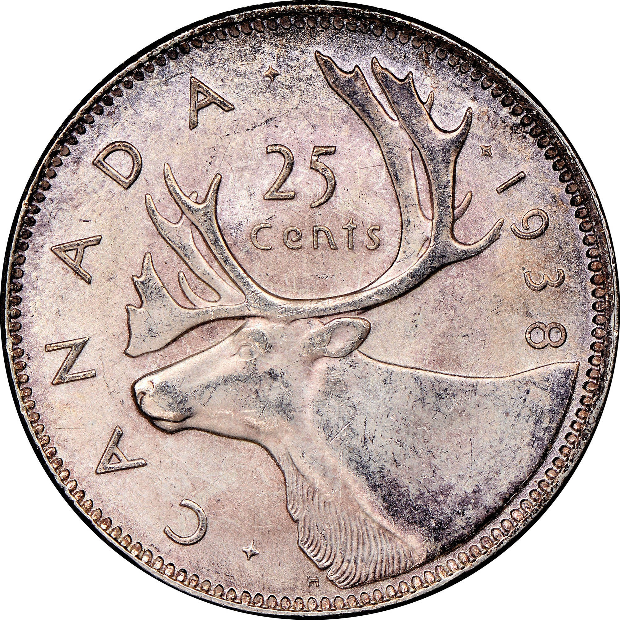 Canada 25 Cents reverse