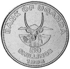 Uganda 50 Shillings reverse