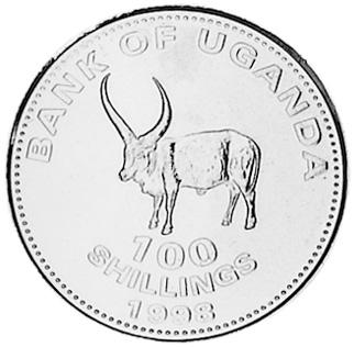 etat UGANDA OUGANDA 100 shillings 1998